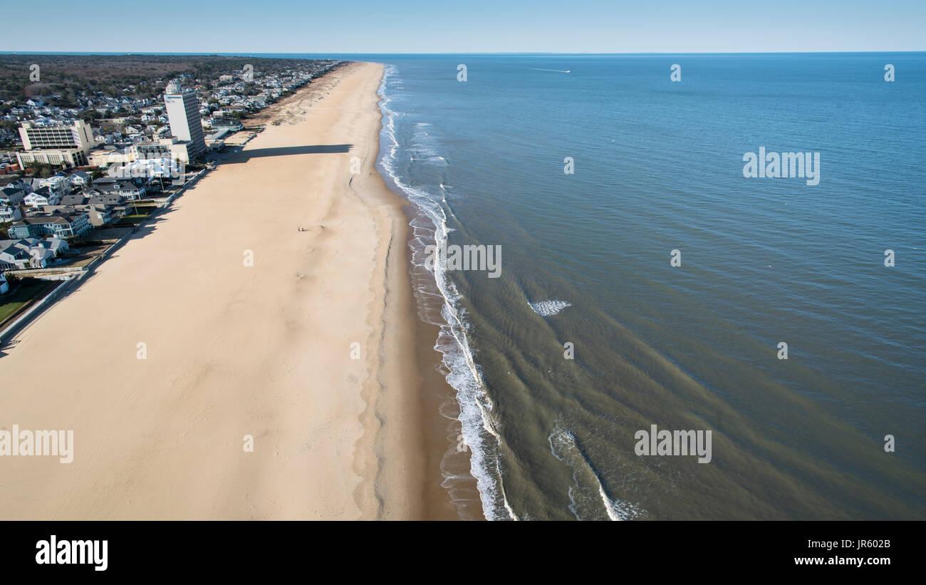 Virginia Beach Oceanfront - Stock Image