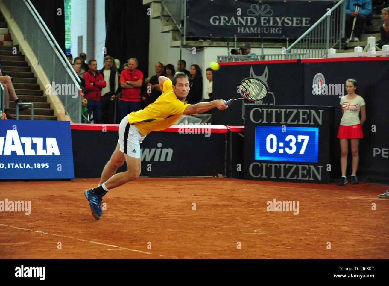 German Open 2017, ATP World Tour, Florian Mayer (GER) im Halbfinale gegen Philipp Kohlschreiber (GER), Hamburg, Stock Photo