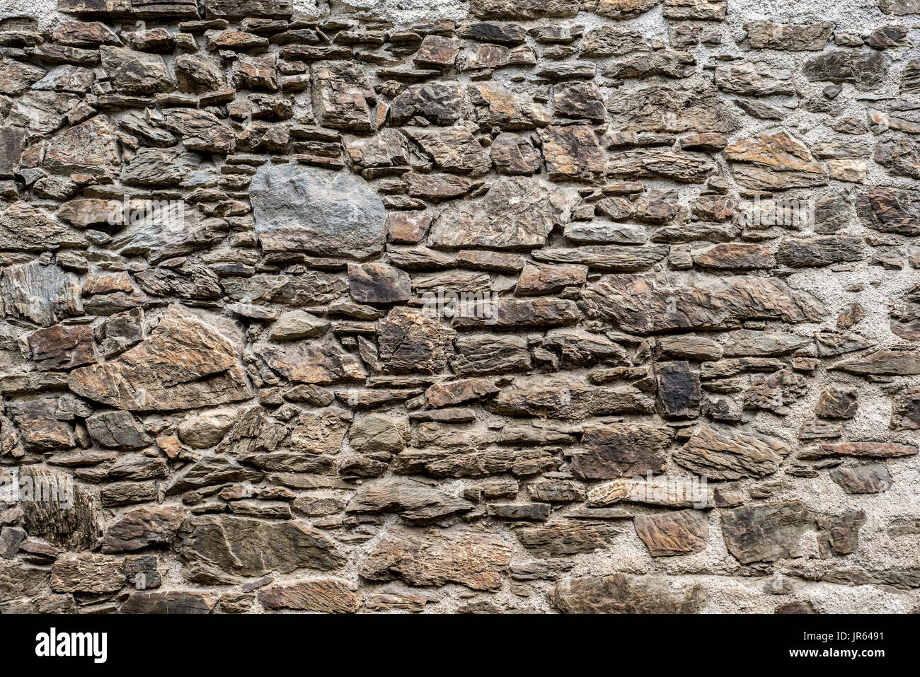 abstract Background of old vintage brick wall pattern closeup macro - Stock Image