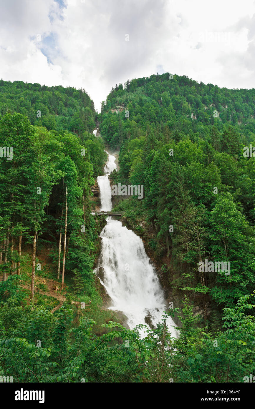 giessbach waterfalls switzerland Stock Photo