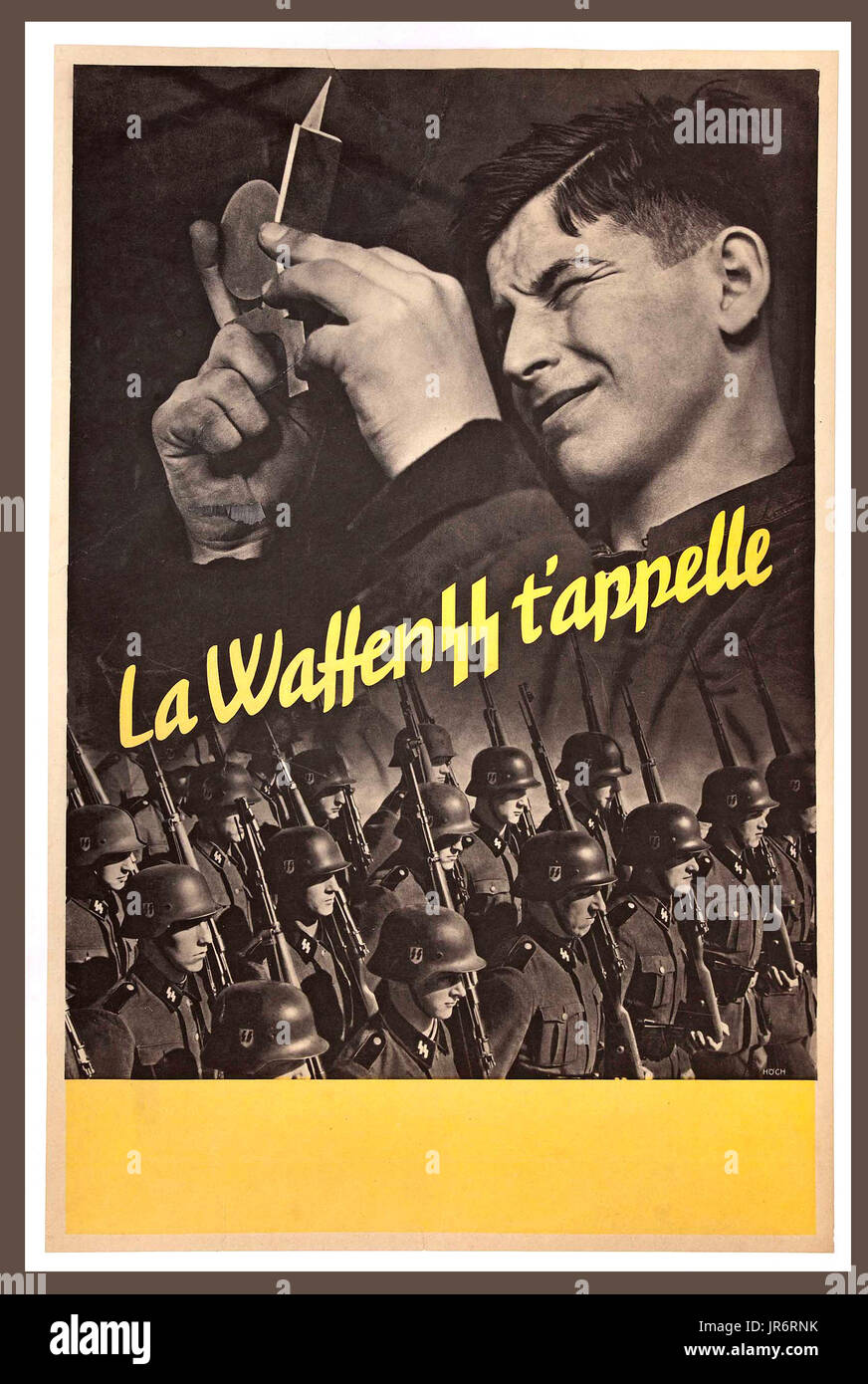 WW2 German French Wehrmacht Enlistment Poster