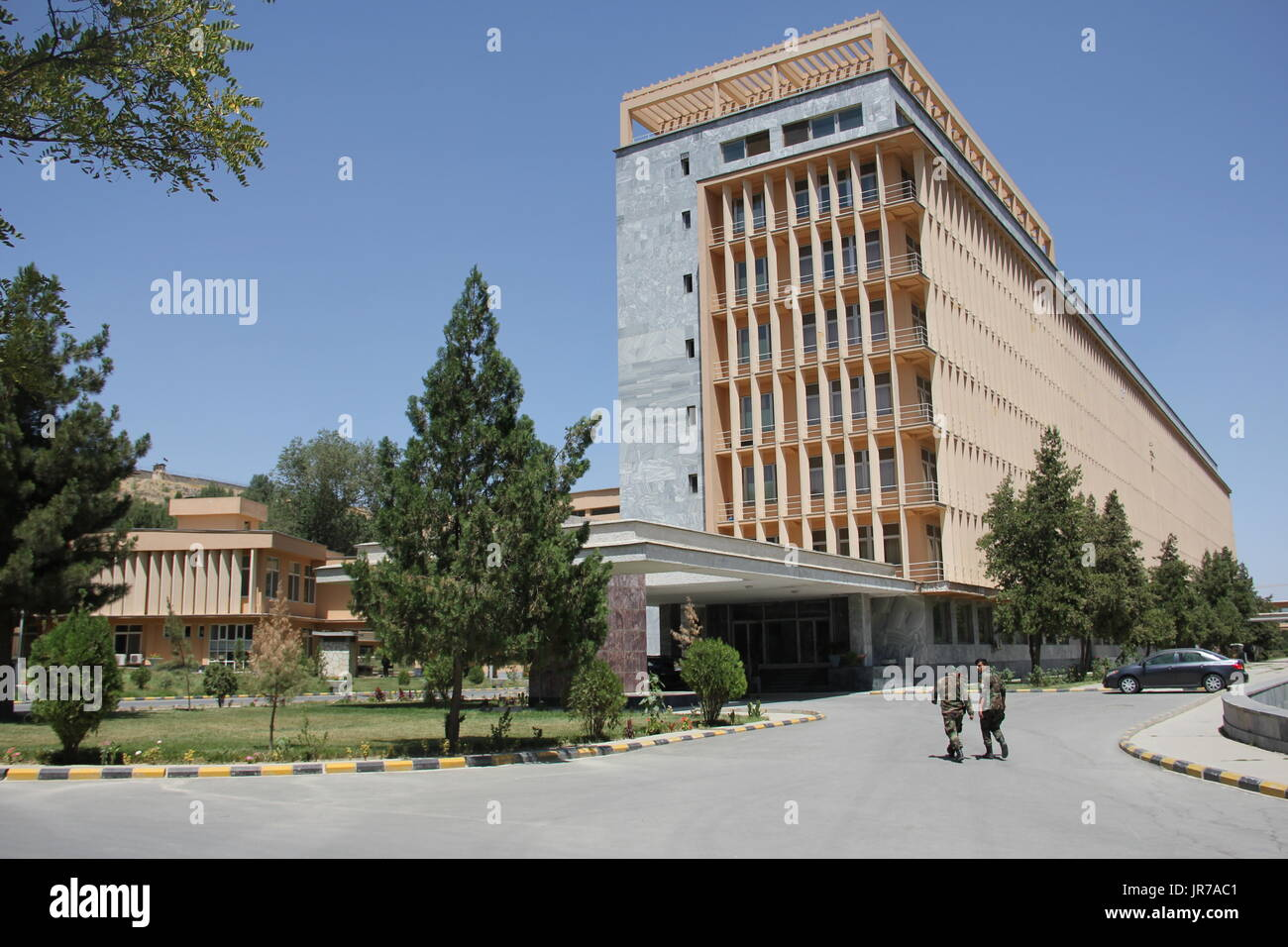 Picture of the largest military hospital in the country, taken in Kabul, the capital of Afghanistan, 24 July 2017. The Afghan Army counts with six such clinics across the country, which are incapable of coping with the onslaught of injured soldiers. The war with the Taliban continues to spread. 12,000 troops and police offiucers were injured last year and about 7000 were killed. The severest cases come here, to Kabul. Photo: Christine-Felice Röhrs/dpa - Stock Image