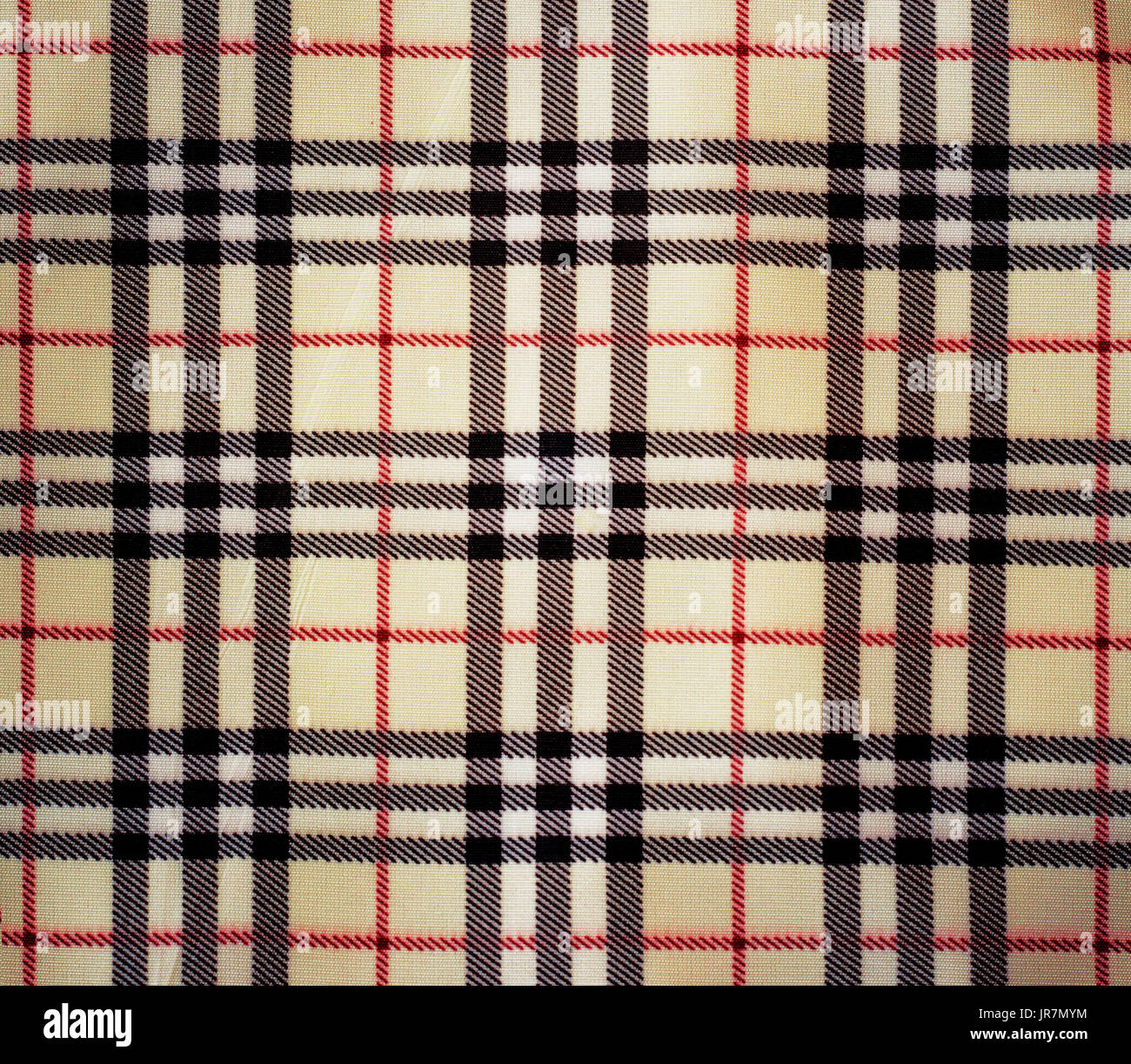 Background Checkered Cloth Fabric Red Black White Stock Photo