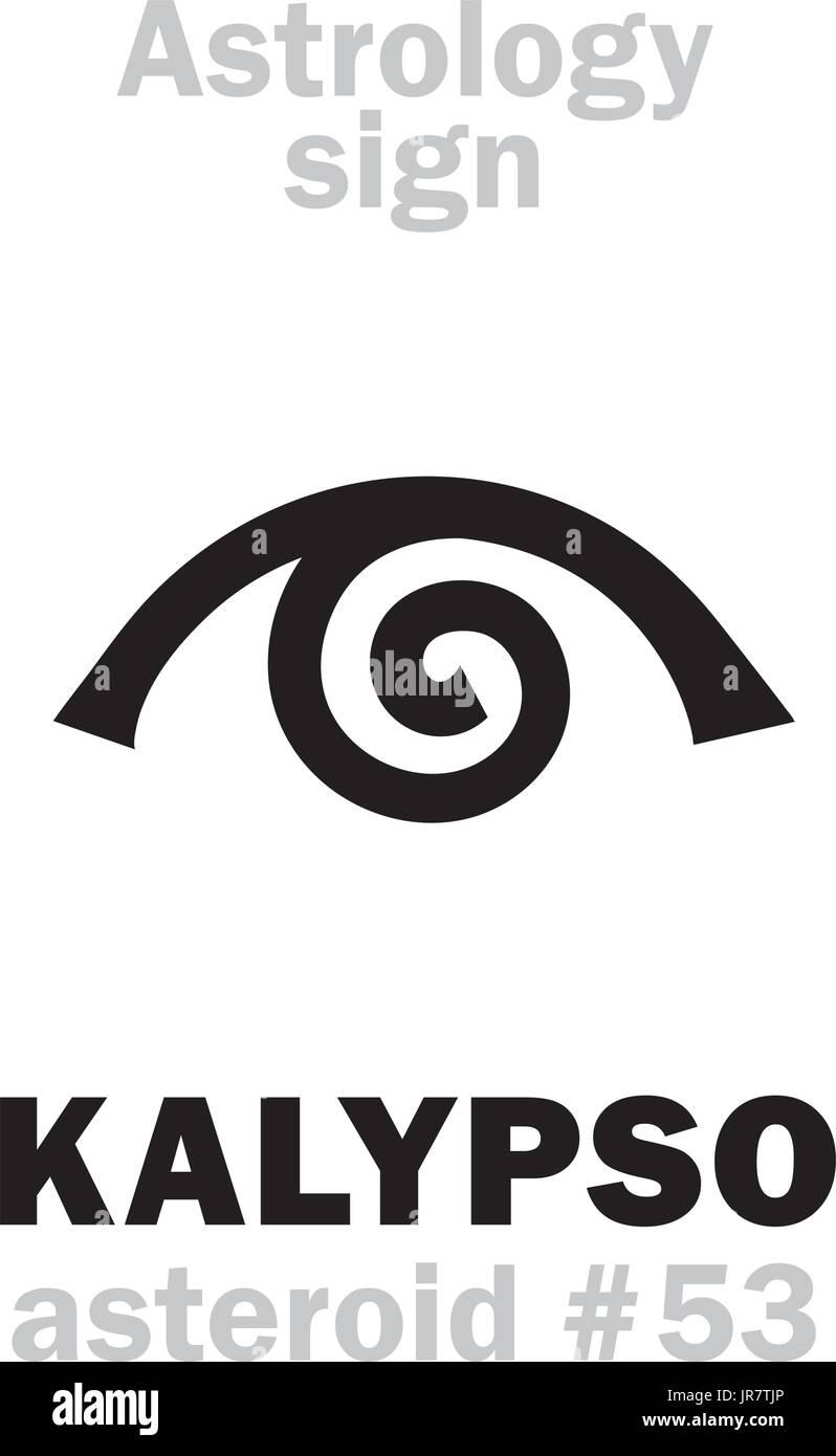 Astrology Alphabet: KALYPSO (Calypso), asteroid #53