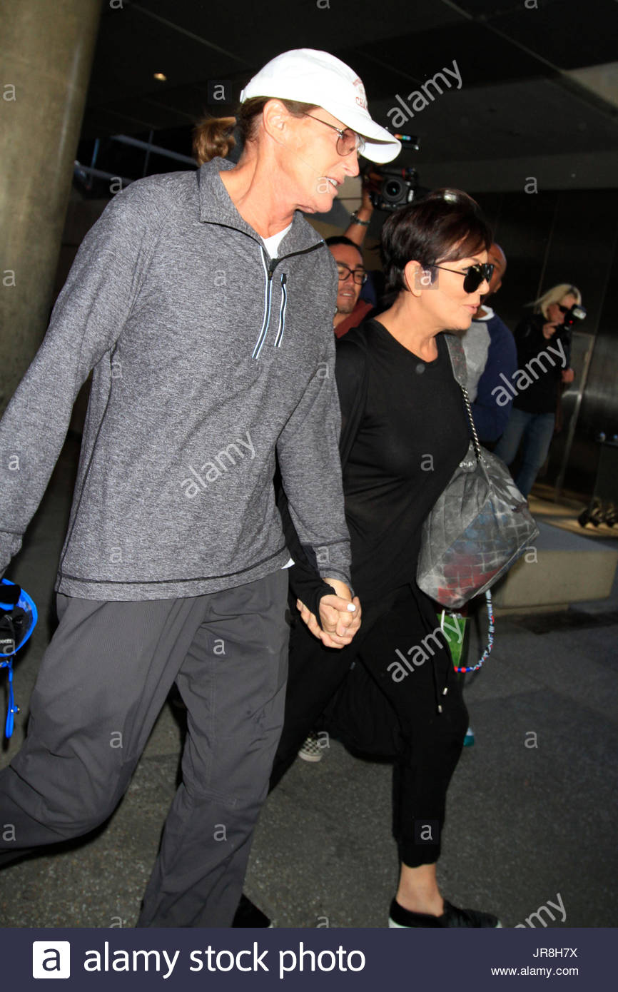 Kris Jenner and Bruce Jenner Bruce Jenner wears a ring on his Stock