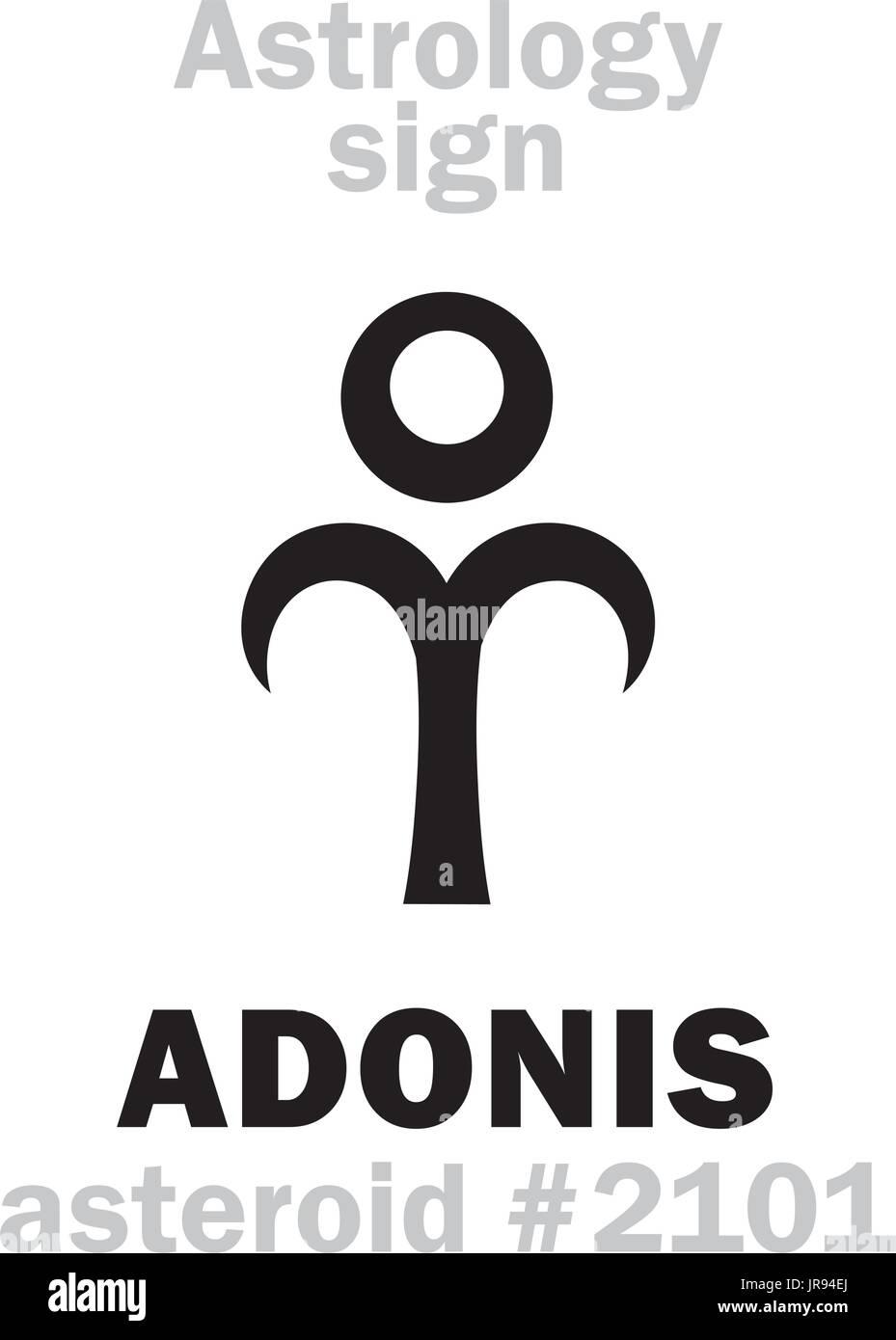 Astrology Alphabet: ADONIS (Attis), asteroid #2101