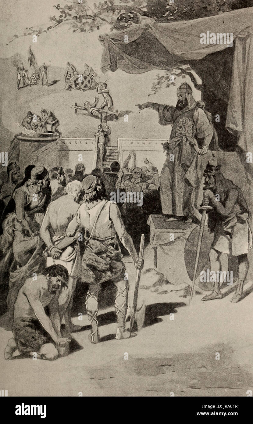 Terrible Persecution of the Christians by the King of Persia - Stock Image