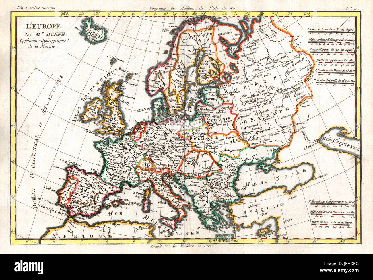 Map Of Europe 1780.18th Century Europe Map Stock Photos 18th Century Europe Map Stock