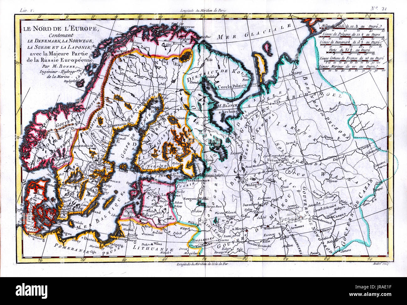 Old norway map stock photos old norway map stock images alamy 1780 bonne antique map of scandinavia including sweden finland norway and denmark gumiabroncs Gallery