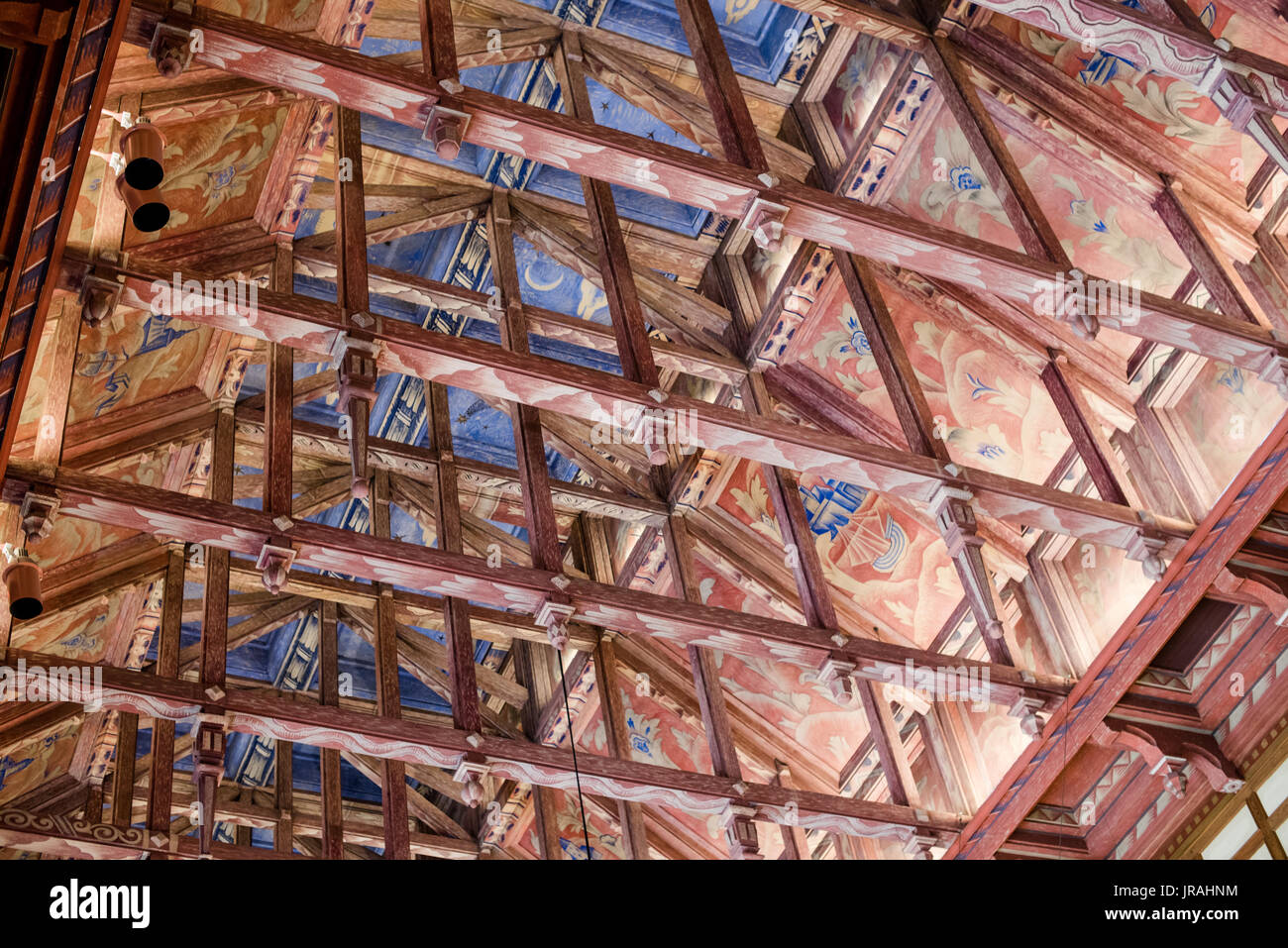 Council Chamber ceiling of Stockholm City Hall, Sweden - Stock Image