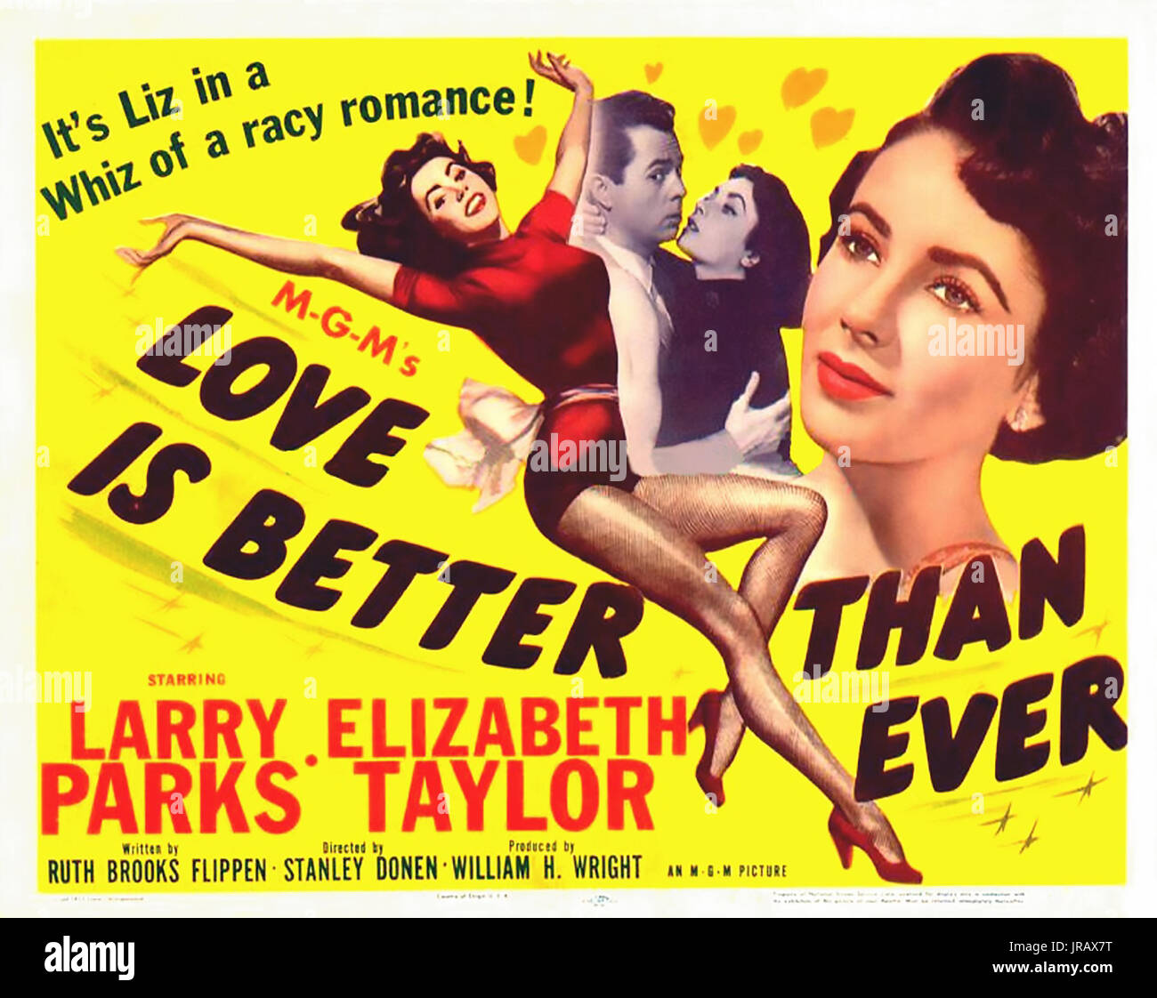 LOVE IS BETTER THAN EVER 1952 MGM film with Elizabeth Taylor - Stock Image