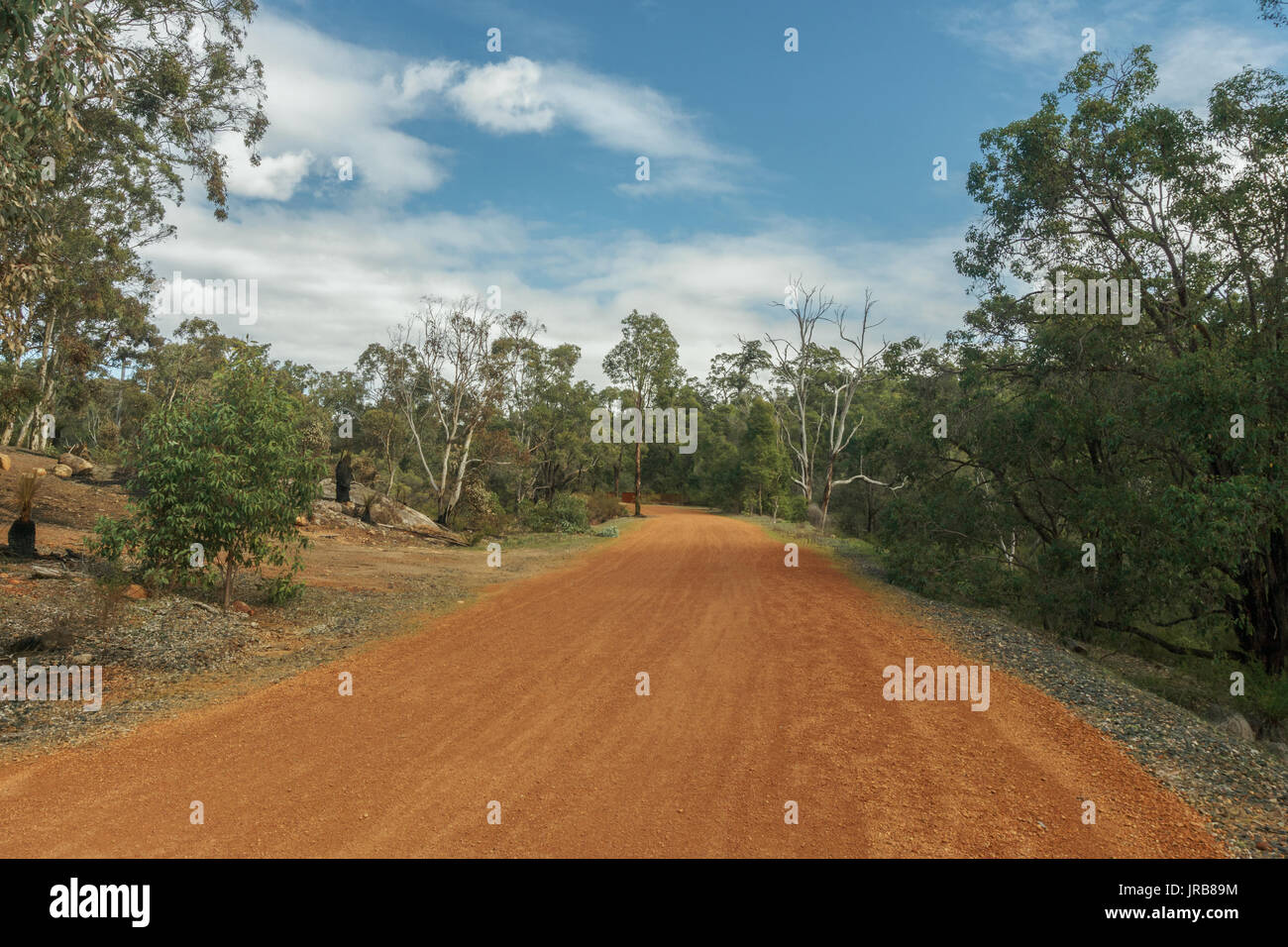 Railway heritage trail in John Forrest national park, Darling range, Western Australia - Stock Image