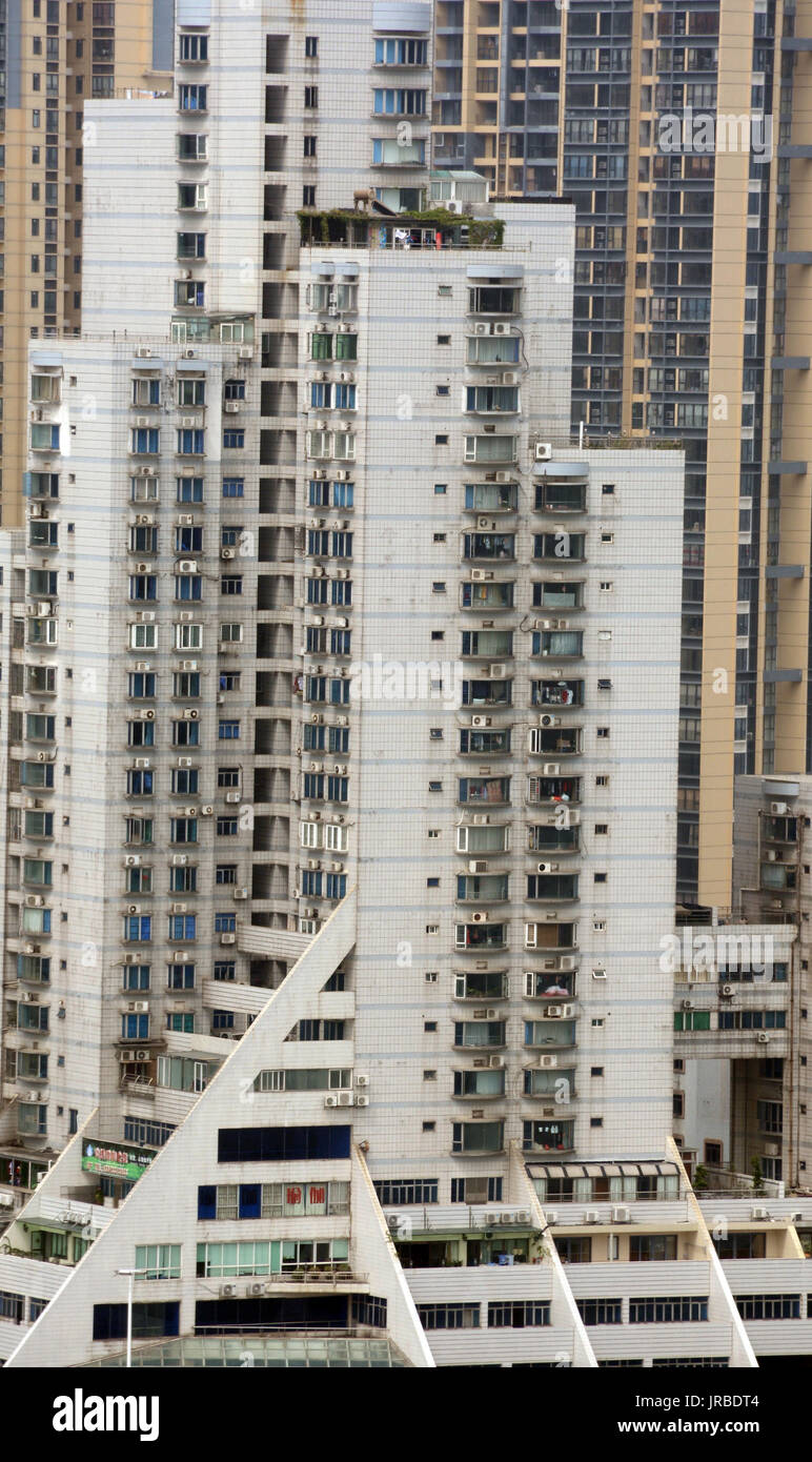 residential tower, Zhuhai city, Guangdong province, China - Stock Image