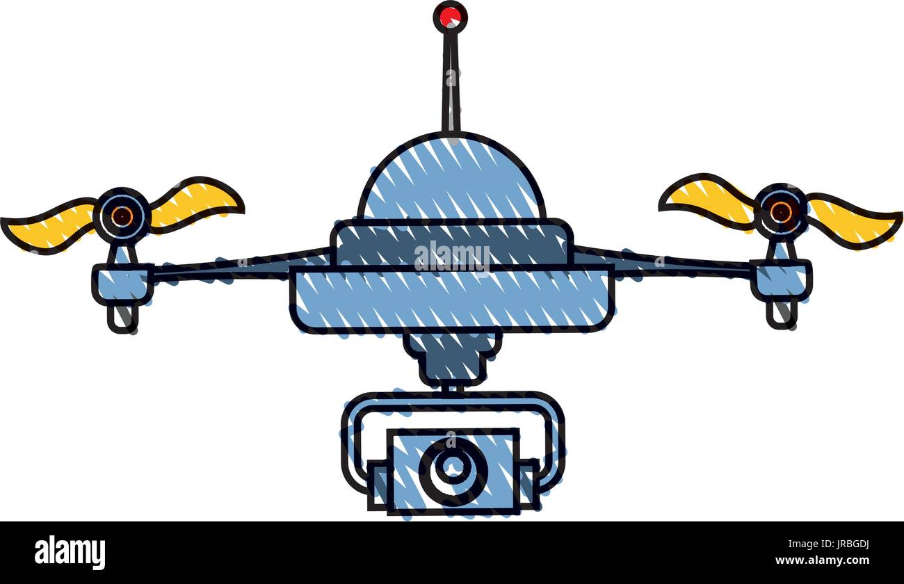 Drone technology isolated - Stock Vector