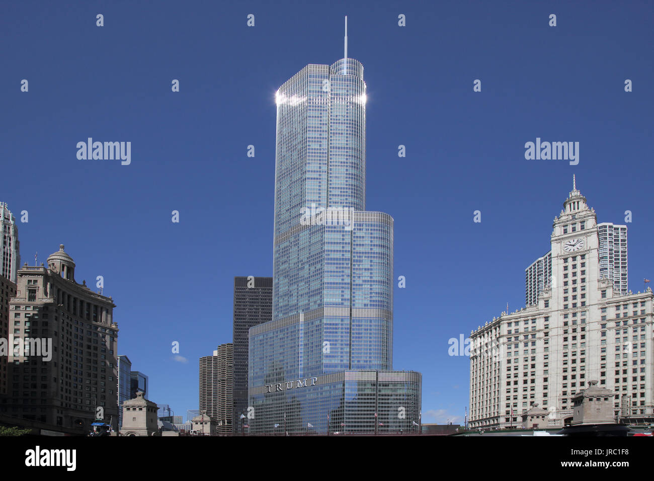 trump tower chicago illinois Stock Photo