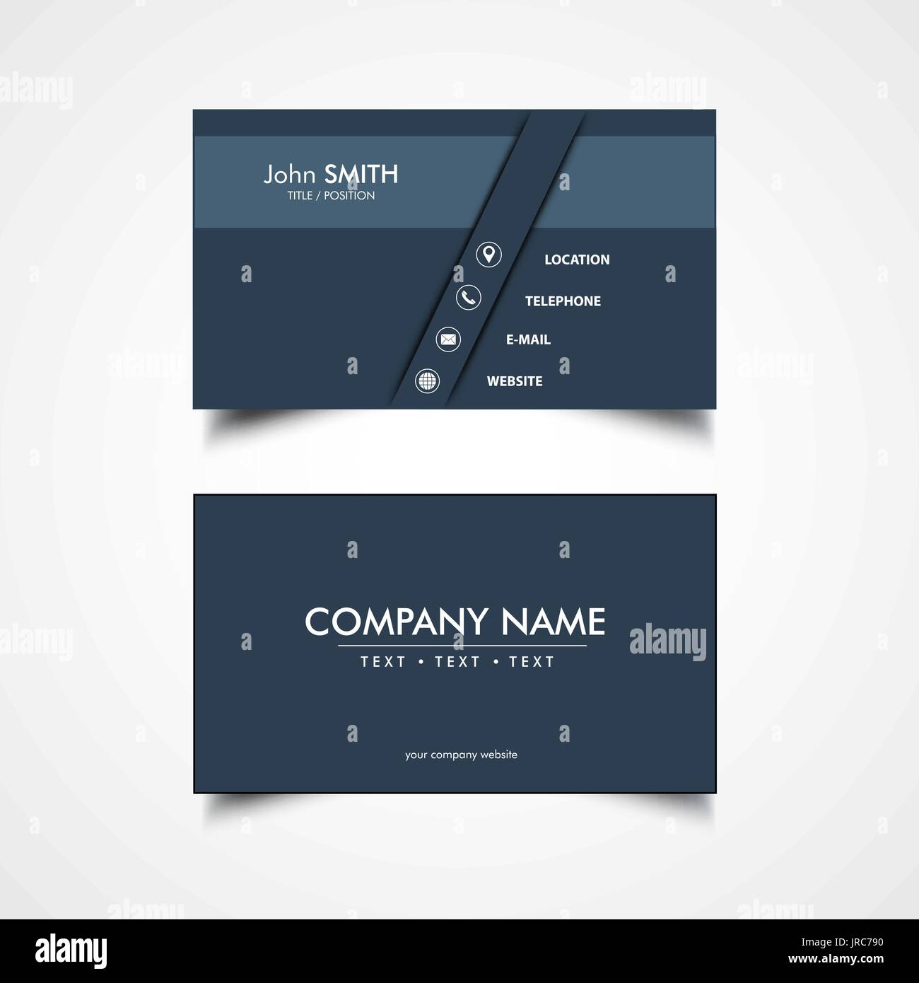 Simple Business Card Template Vector Illustration