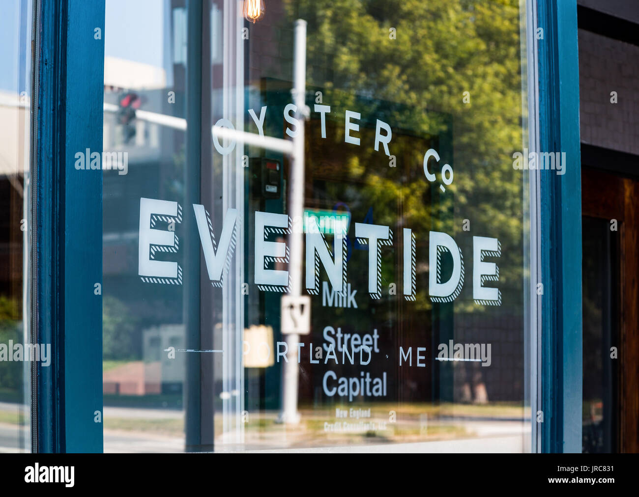 Eventide Oyster Company in Portland Maine - Stock Image