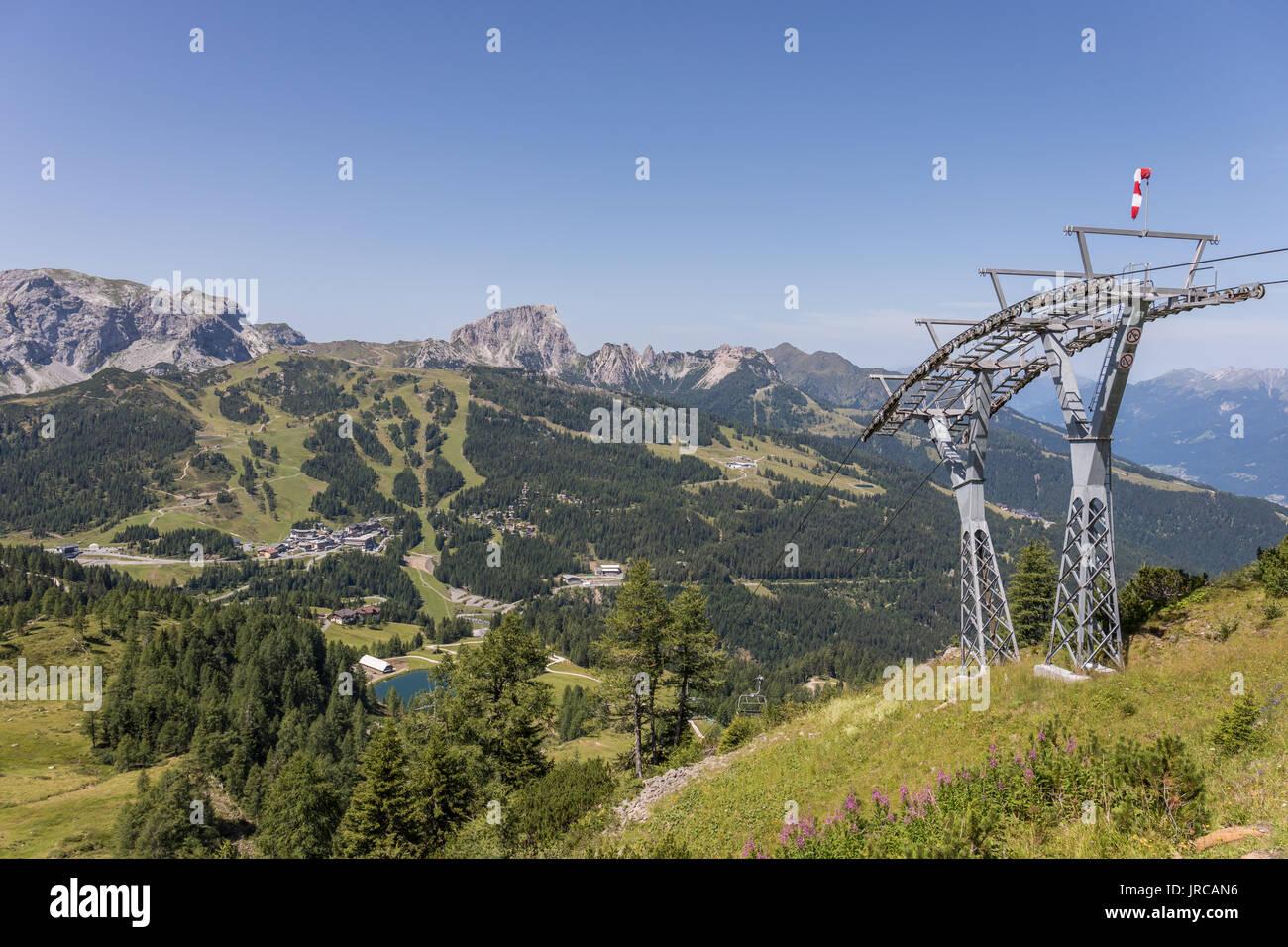 Nassfeld ski area in summer, Carnic Alps, Carinthia, Austria Stock Photo