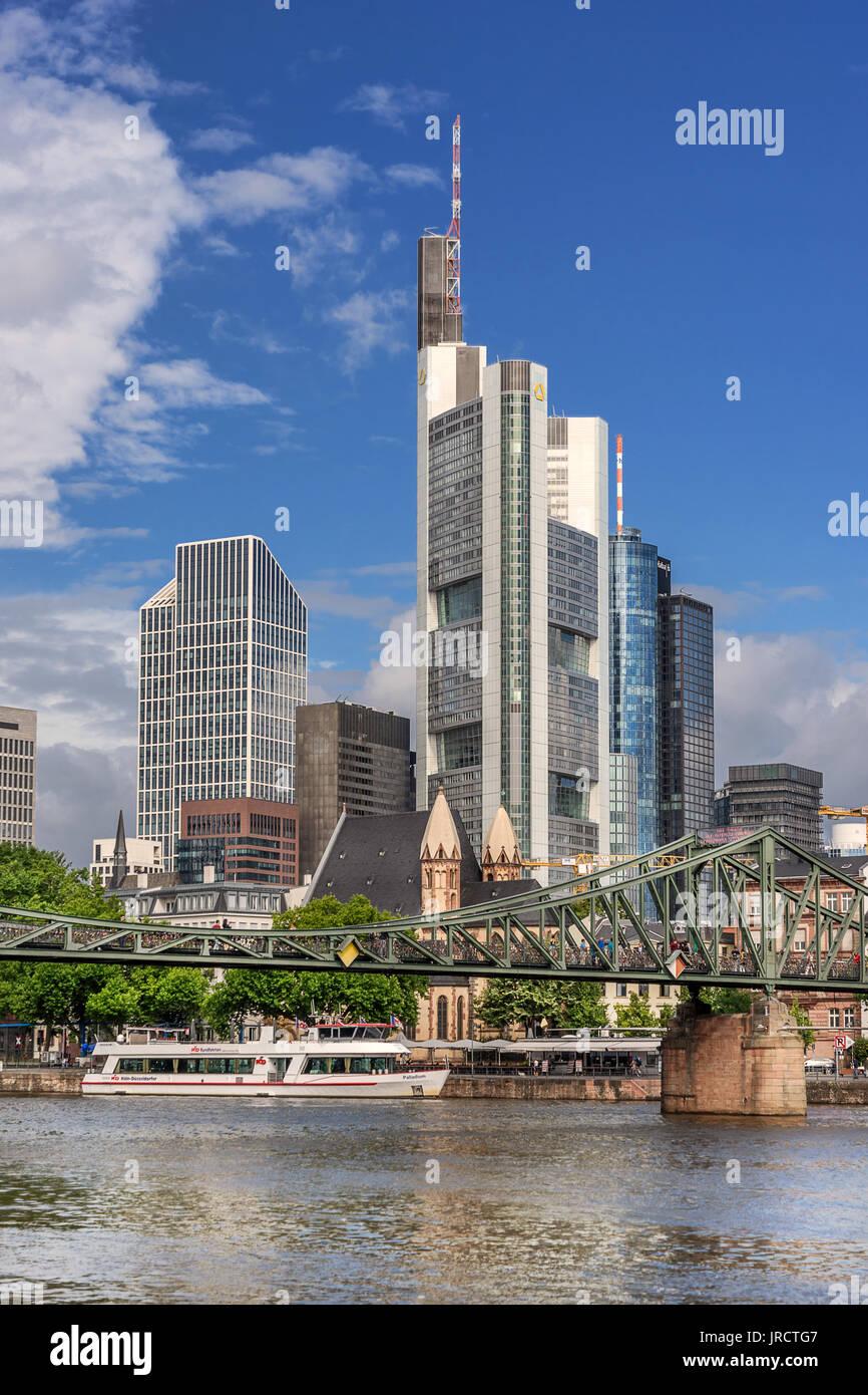 CBD of Frankfurt Am Main - Stock Image
