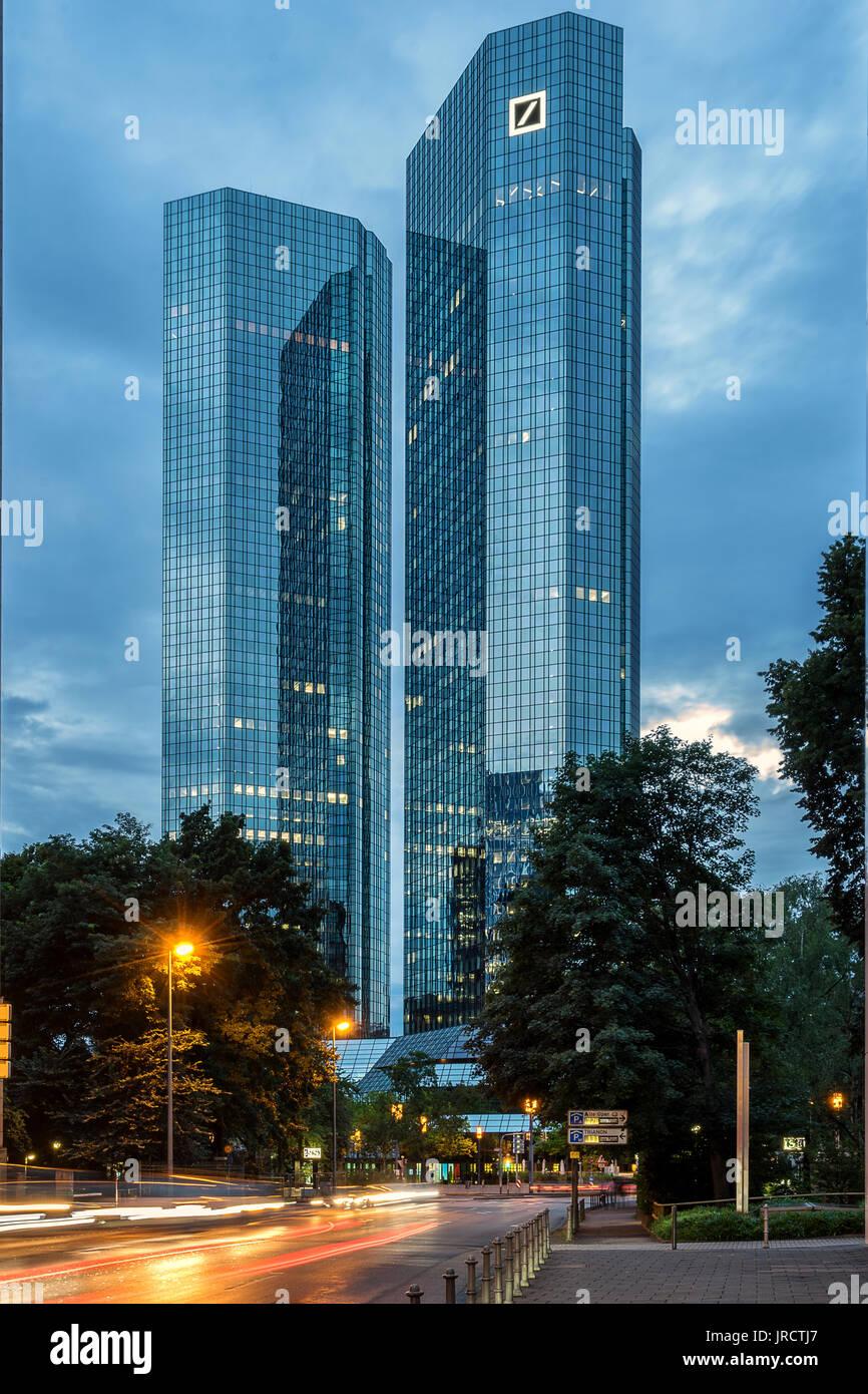 Deutsche Bank in Frankfurt Am Main - Stock Image