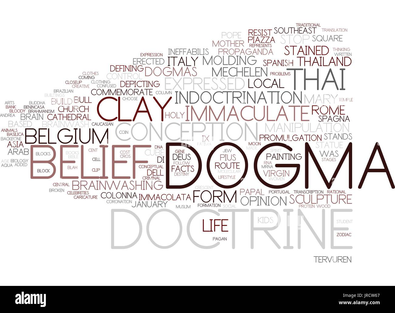 dogma word cloud concept - Stock Vector