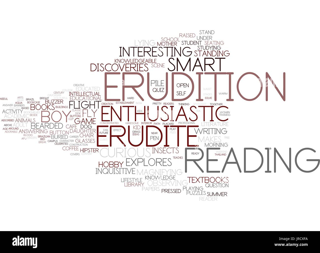 erudition word cloud concept - Stock Vector