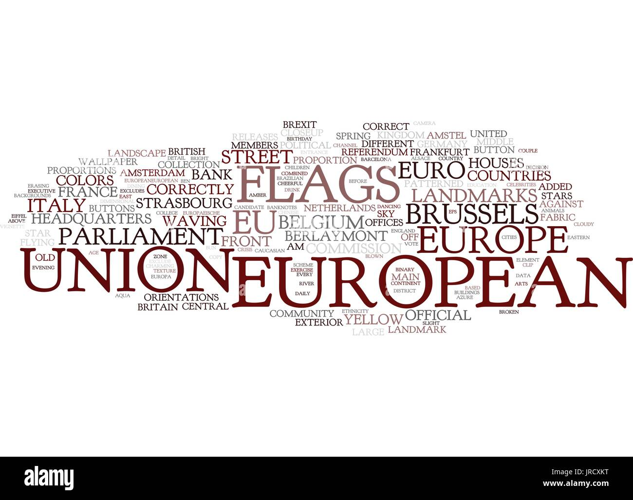 european word cloud concept - Stock Vector