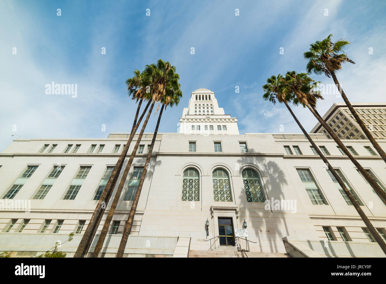 Los Angeles city hall in downtown L.A. - Stock Image