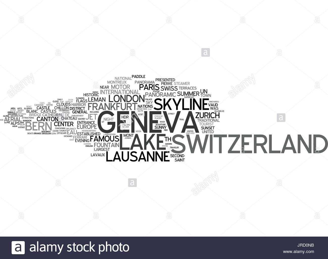geneva word cloud concept - Stock Vector