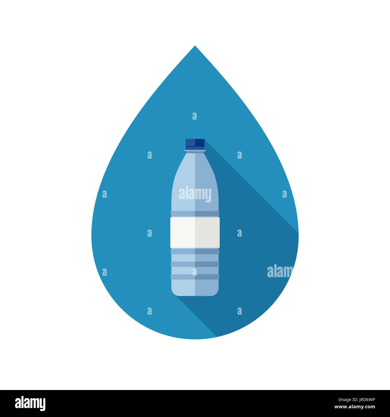 Bottle with water - Stock Vector