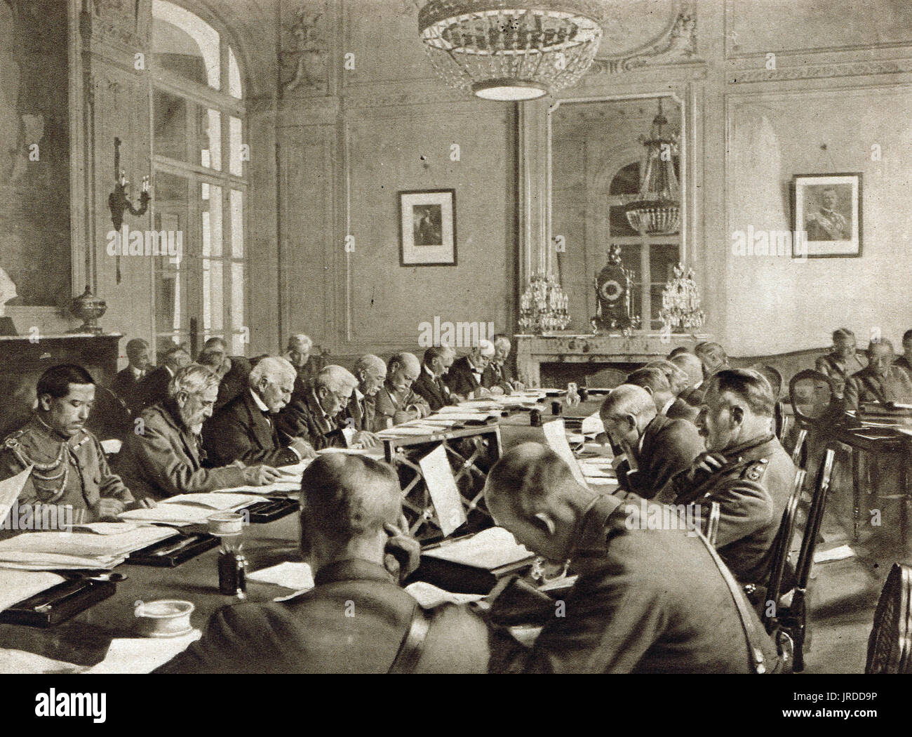 Inter Allied conference at Versailles - Stock Image