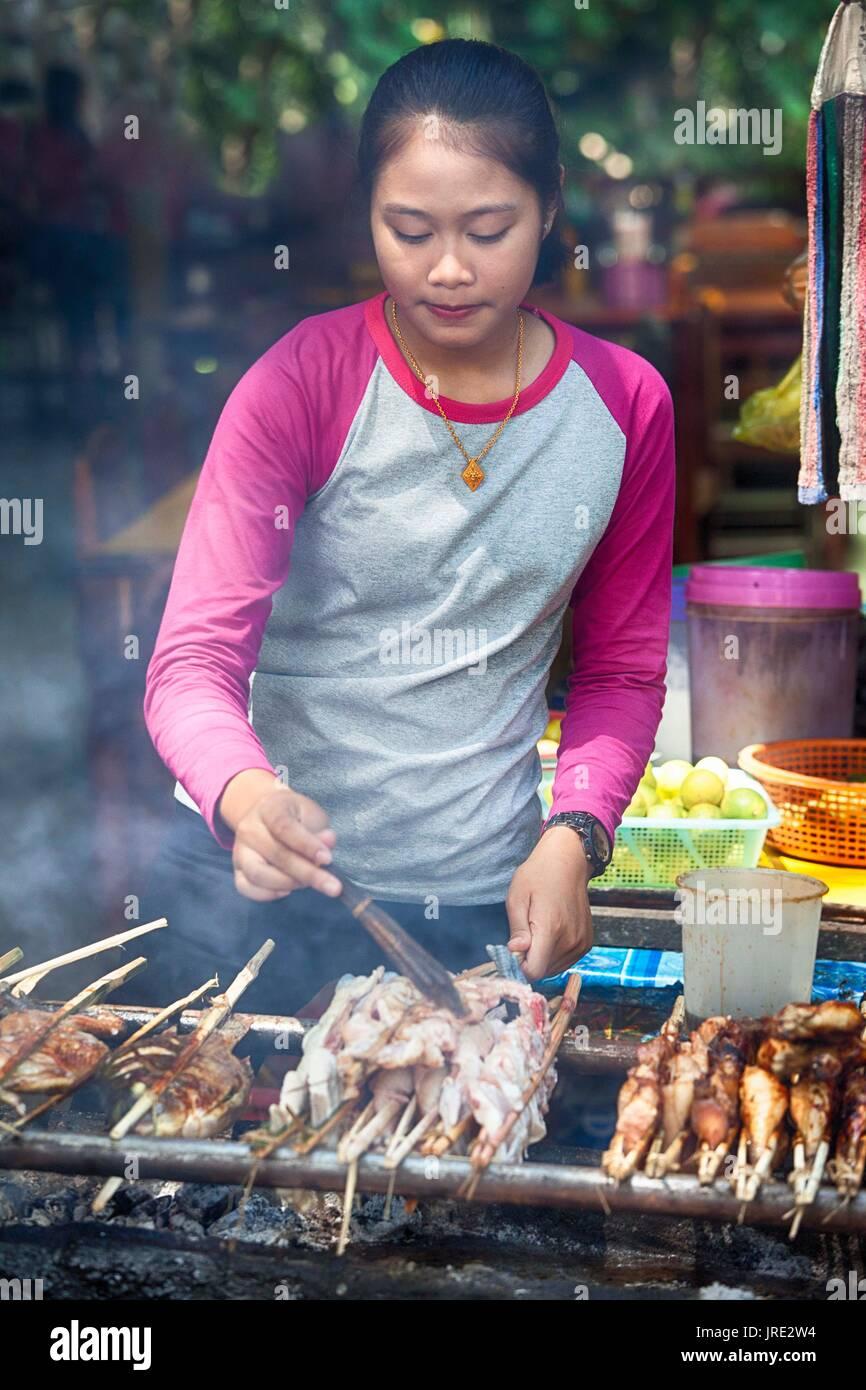 Street food, Laos - Stock Image