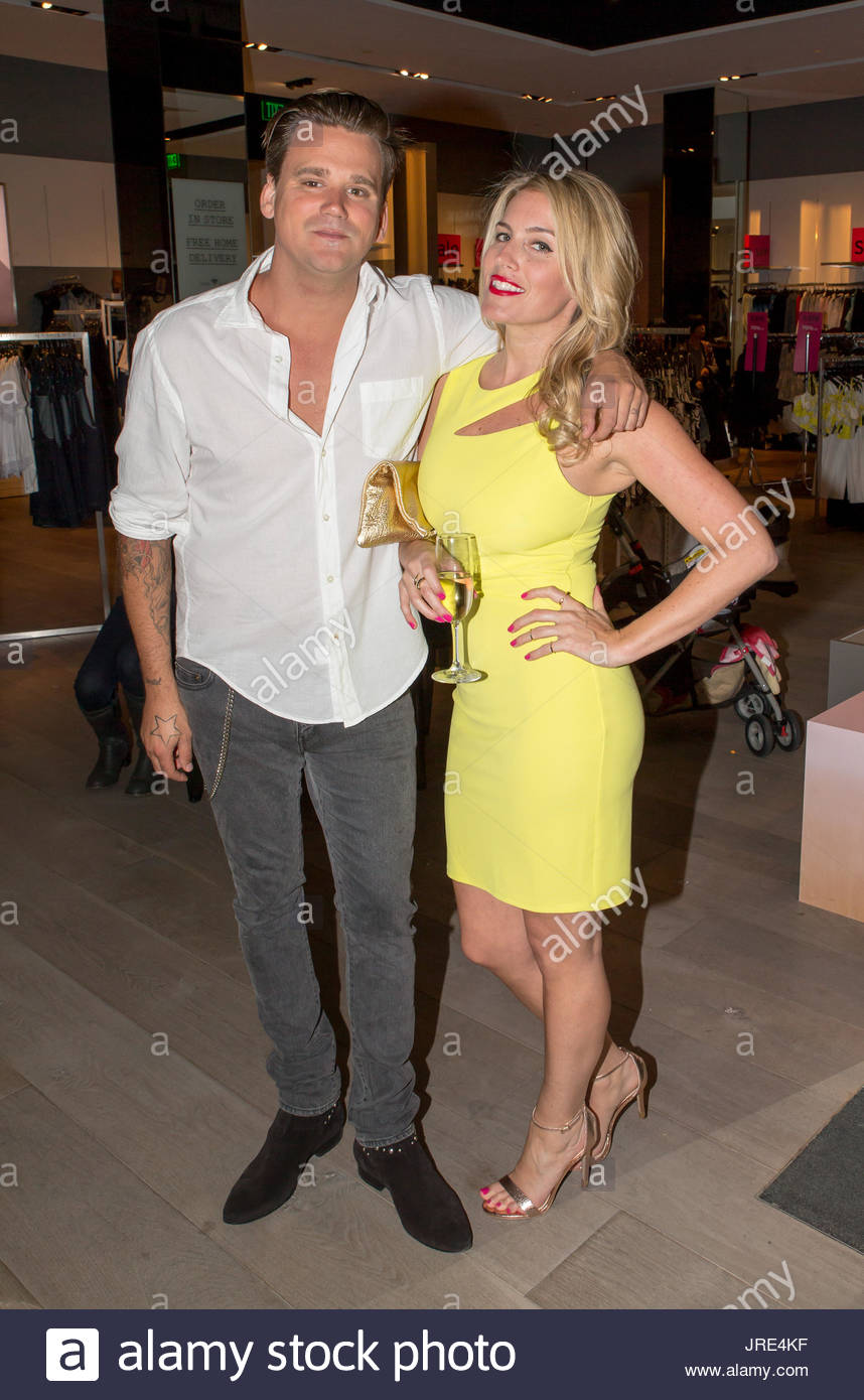 Sean Stewart and Marisa Sullivan. TopShop partners with US weekly's Marisa Sullivan to show summer style at the Stock Photo