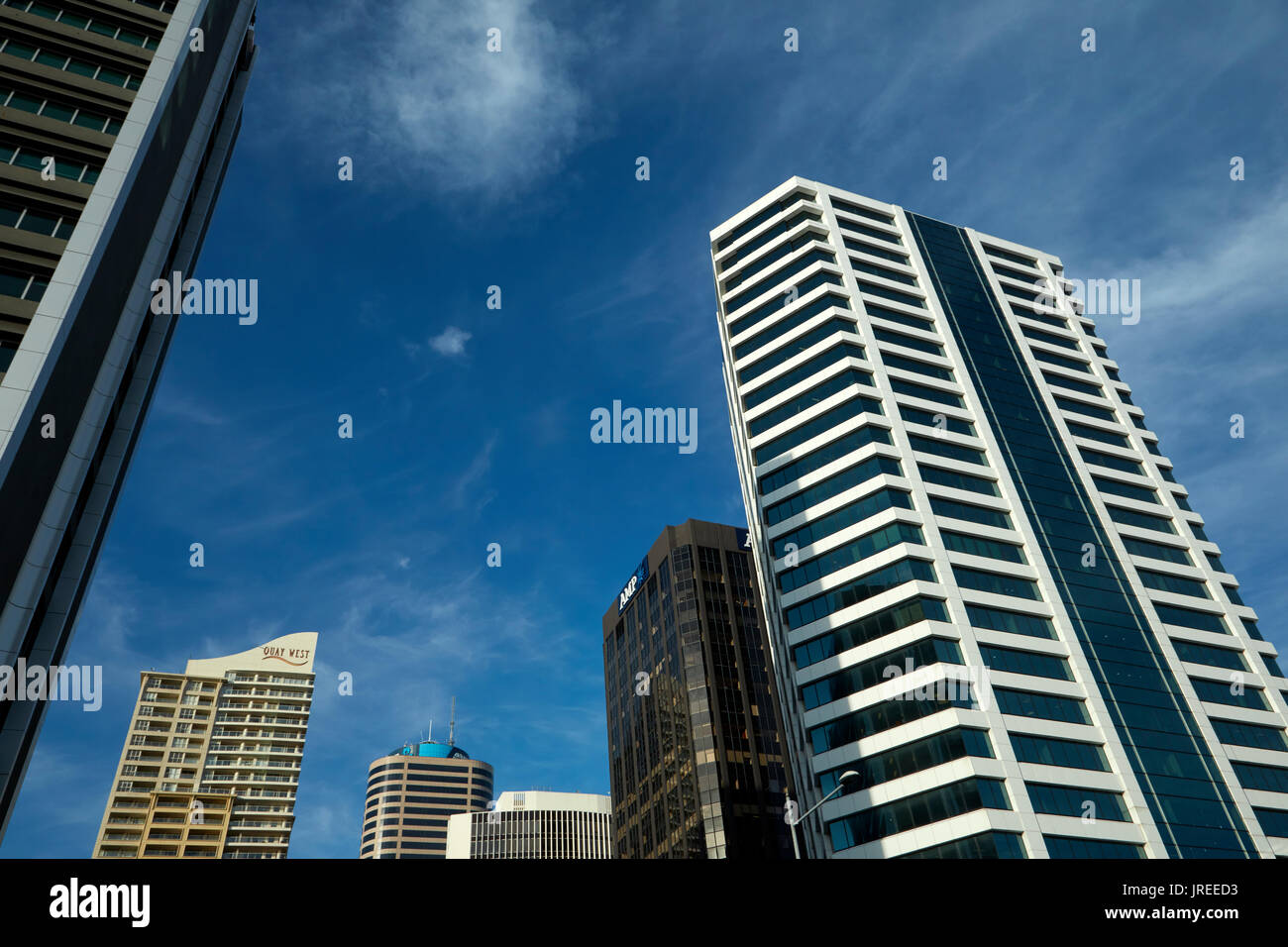High-rise office buildings, Auckland, North Island, New Zealand - Stock Image