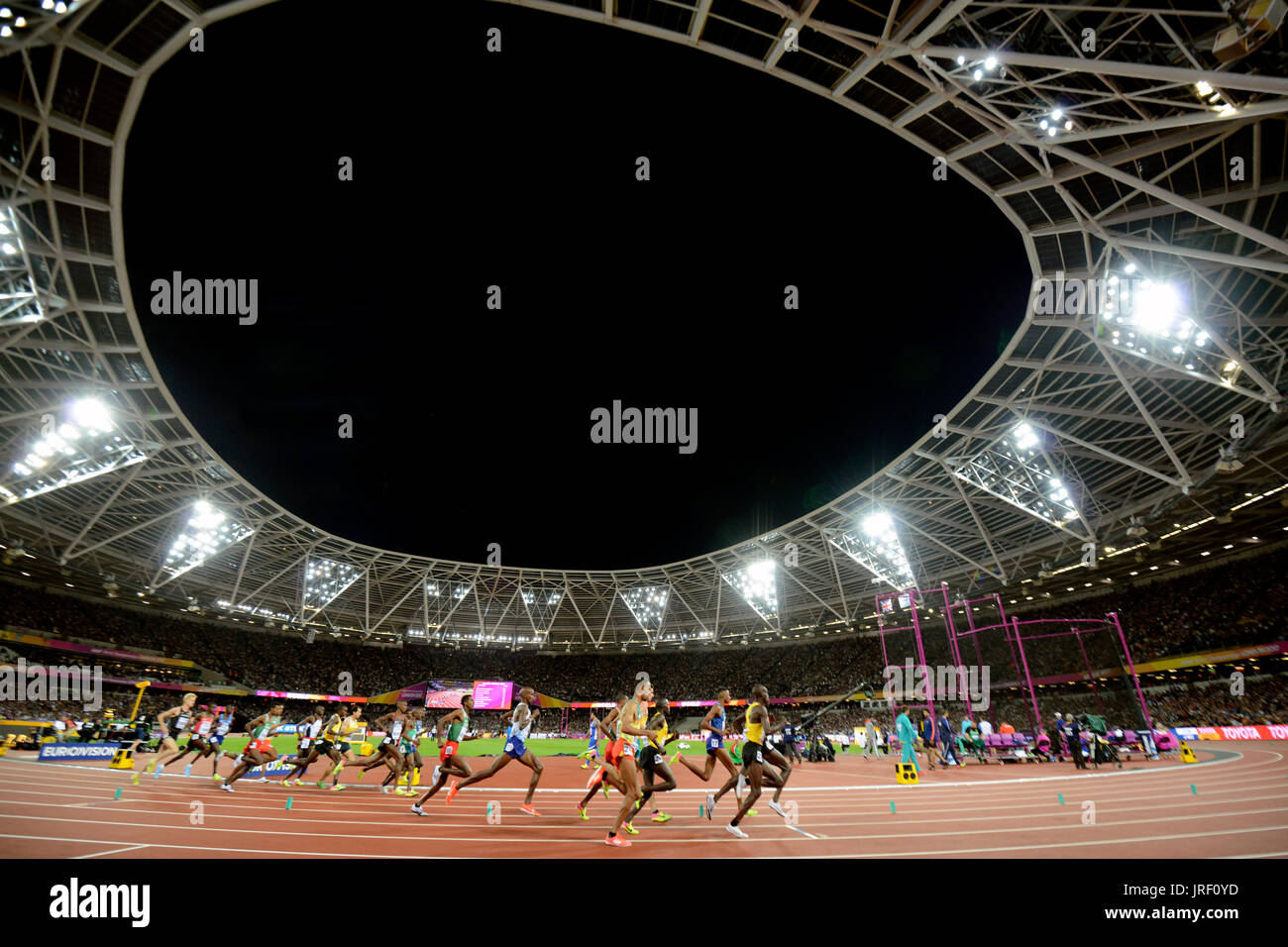 10.000 meters race - IAAF World Championships London 2017 - Stock Image