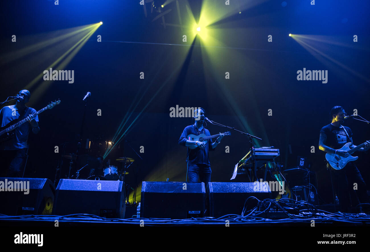 Dhani Harrison performing at Panorama in New York City - Stock Image