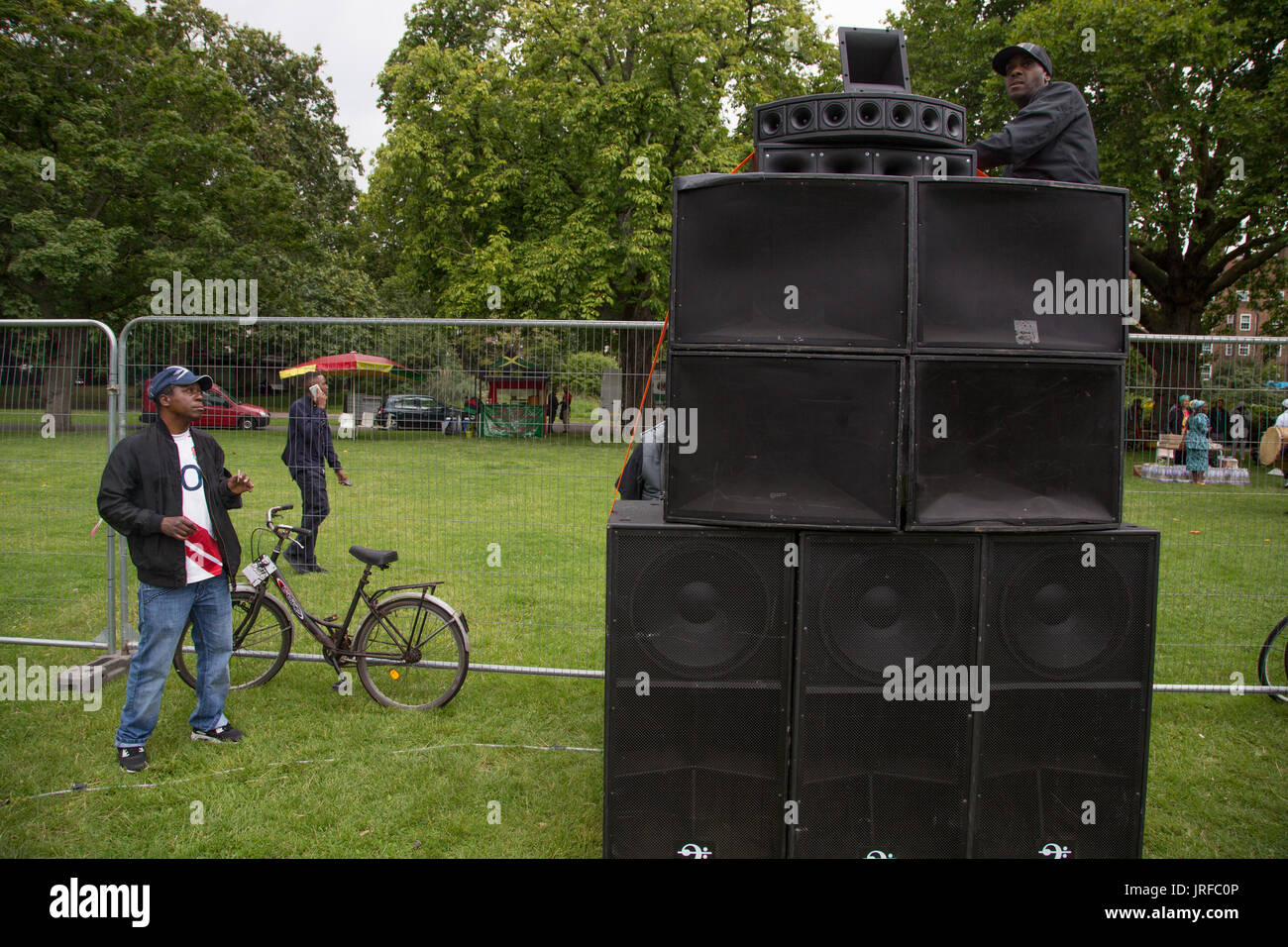London UK 5th August 2017  The Rastafari Movement UK clebrate Africa international day of action in Kennington Park - Stock Image