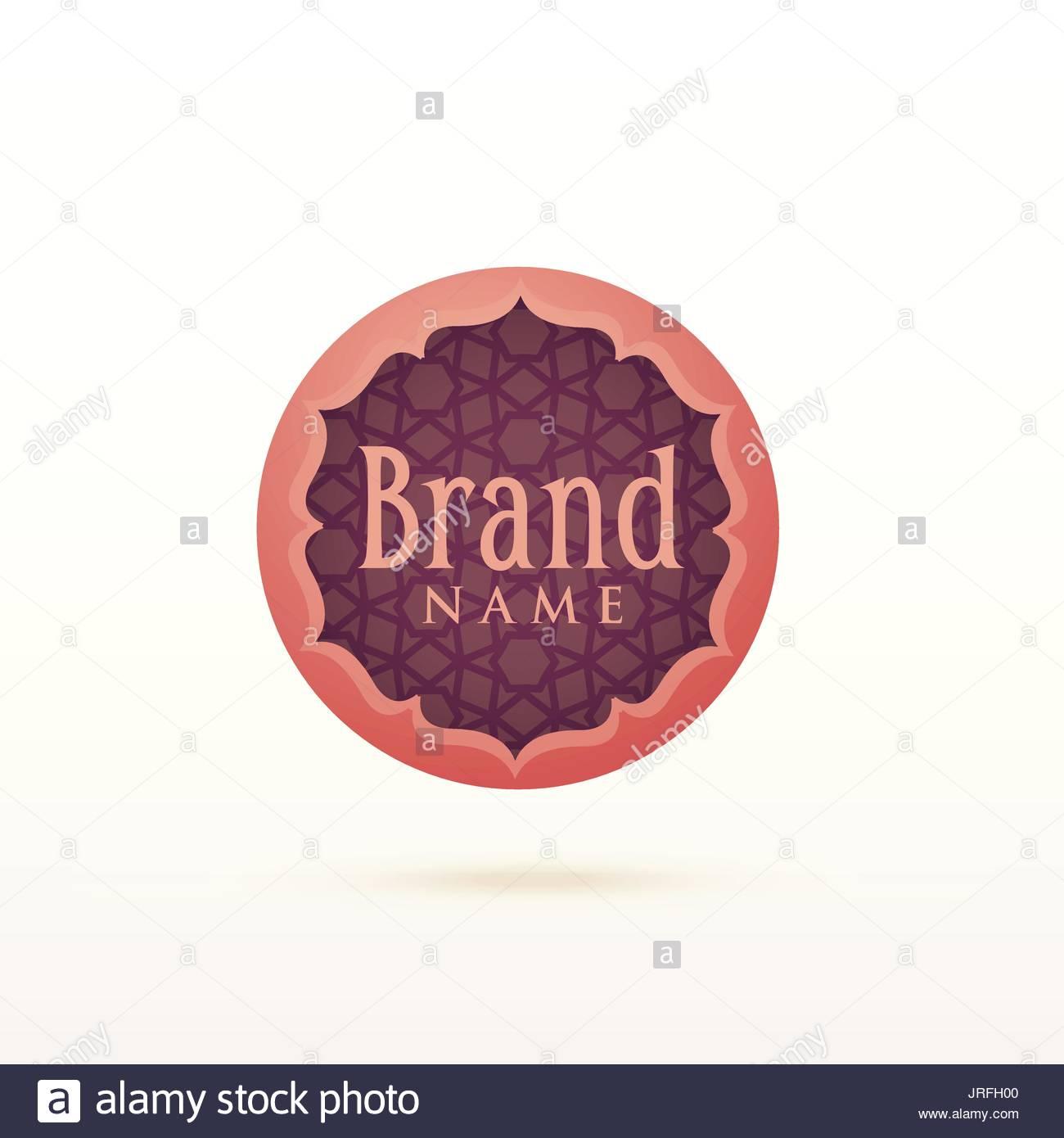 Arabic Style Logo Design Template Stock Vector Image Art Alamy