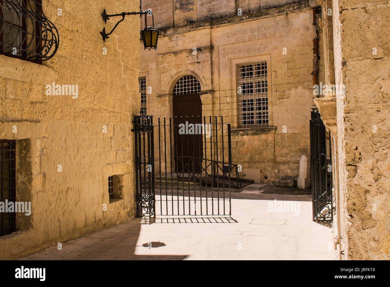More of Mdina. Typical buildings in Mdina, Malta. - Stock Image