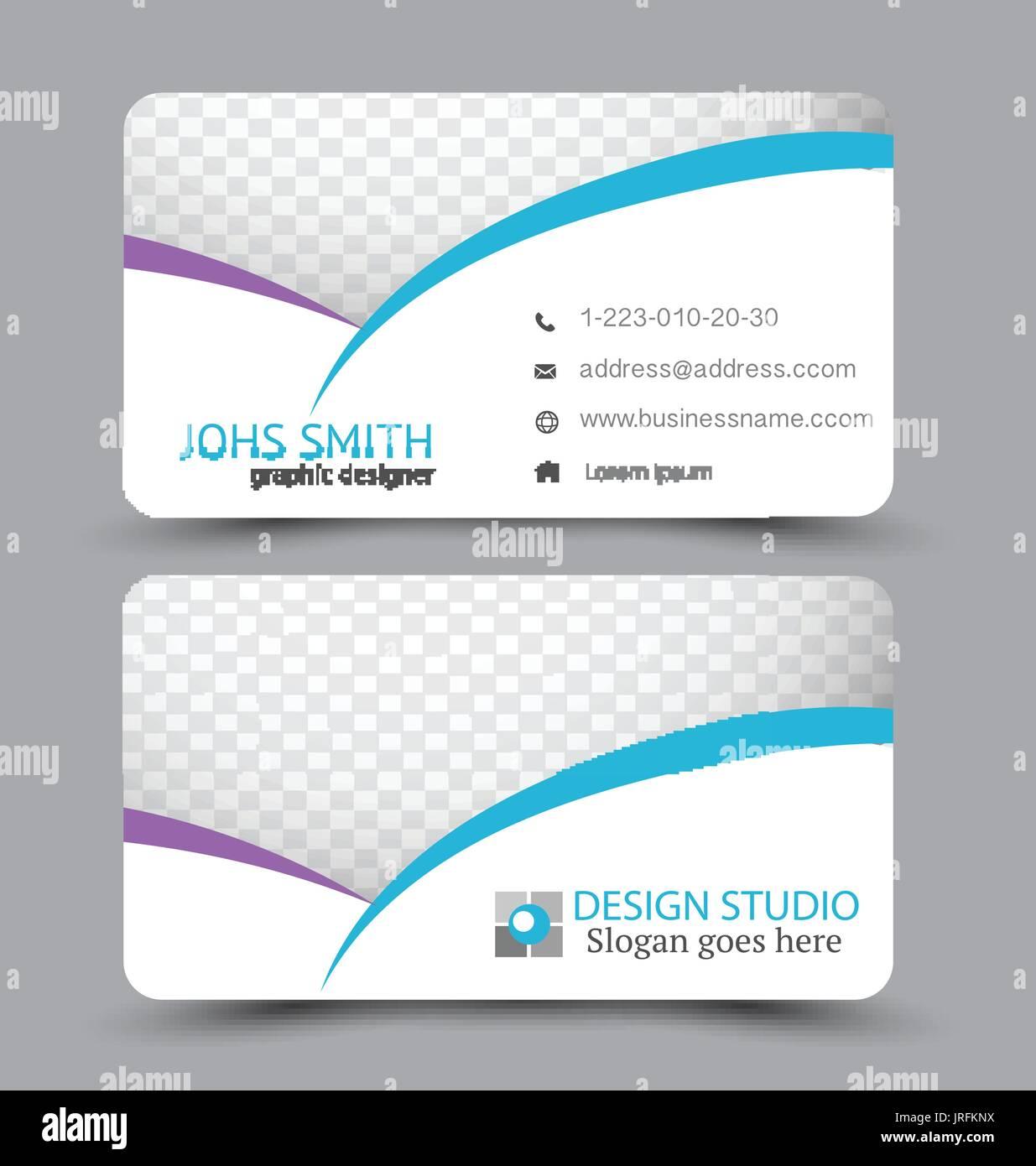 Business card design set template for company corporate style business card design set template for company corporate style purple and blue color vector illustration colourmoves