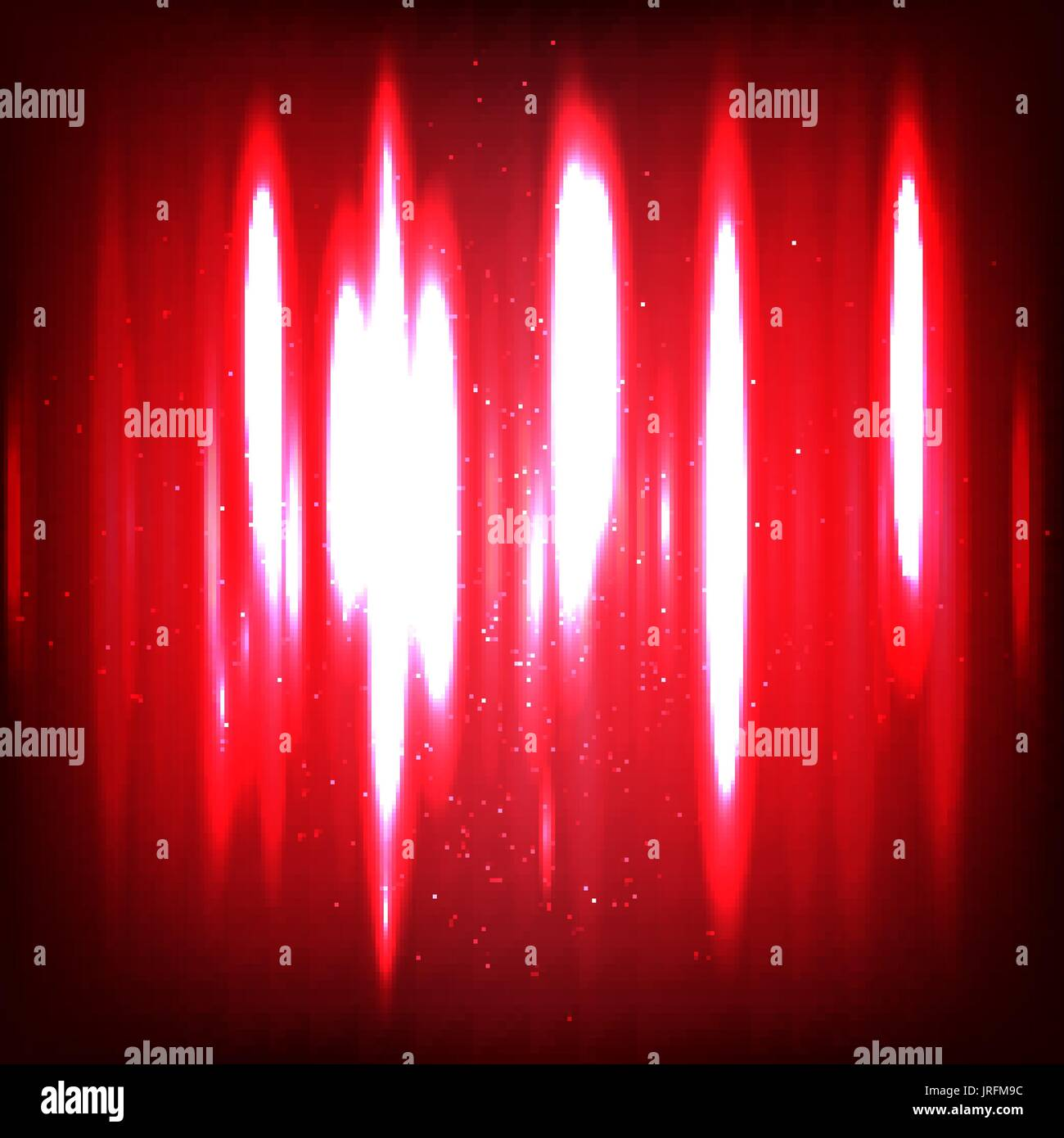 Abstract digital Sound waves with flowing particles. Cyber or technology background. - Stock Image