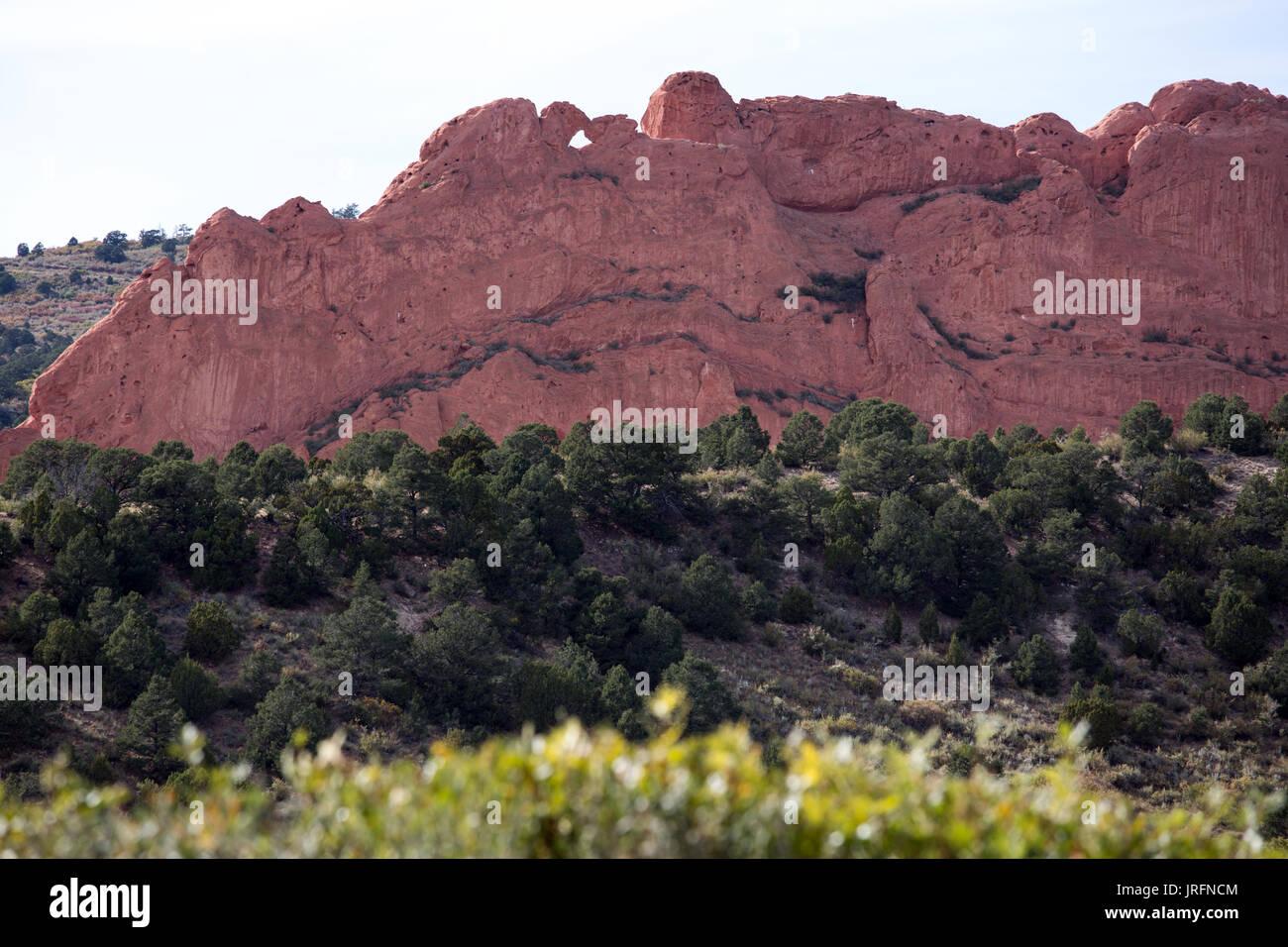 Garden of the gods national park, Colorado Springs - Stock Image