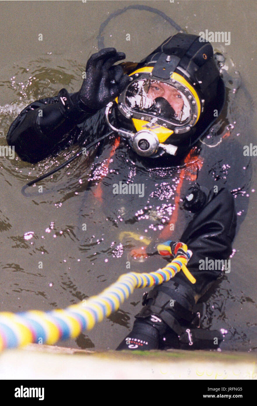 police marine dive team search and recovery - Stock Image