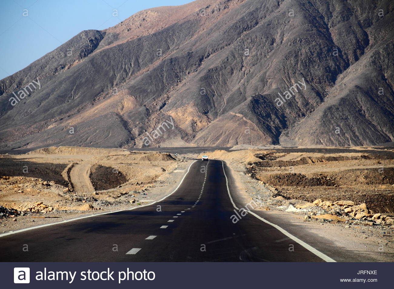 Egypt - road on the desert - Stock Image
