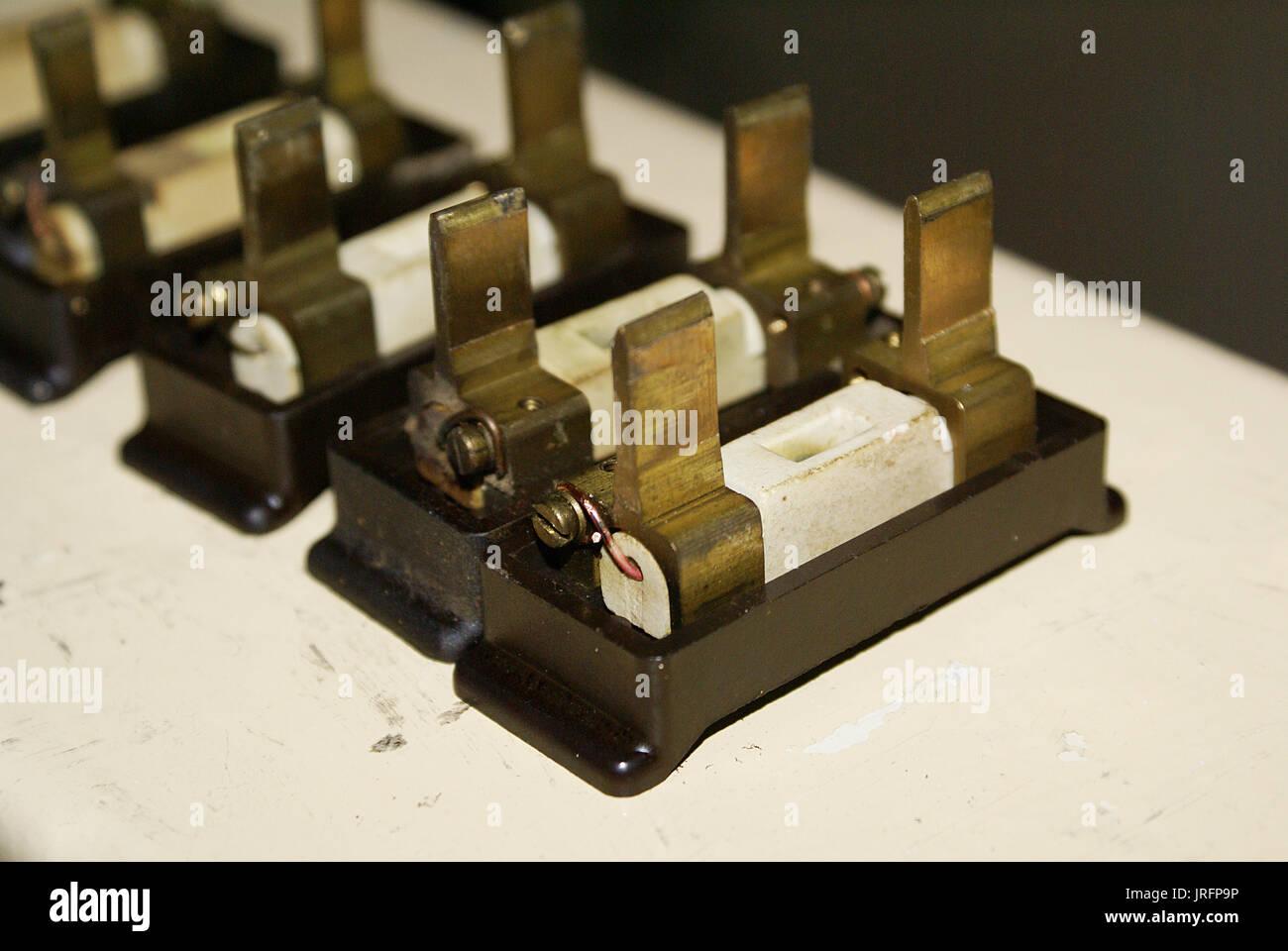 Domestic Fuse Box Fuses : Domestic fuse box stock photos