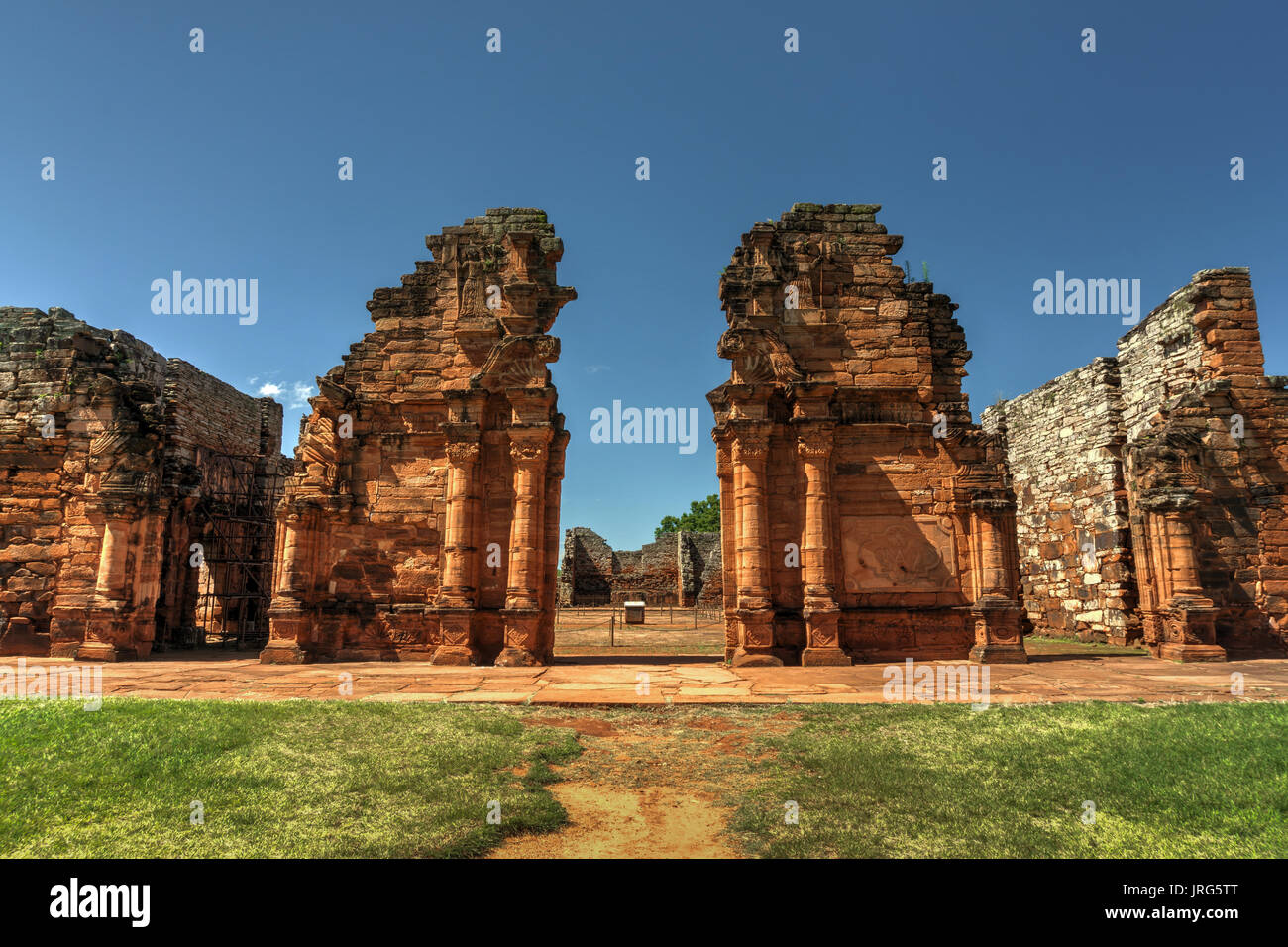 Ruins of San Ignacio Mini, UNESCO World heritage site, Argentina - Stock Image