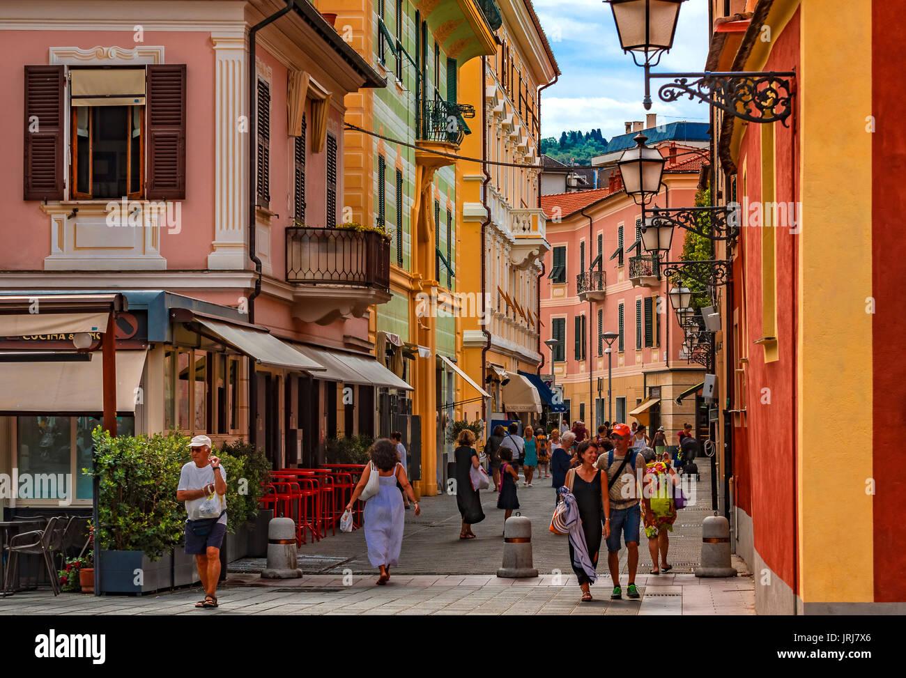 italy liguria sestri levante old city pedestrian zone
