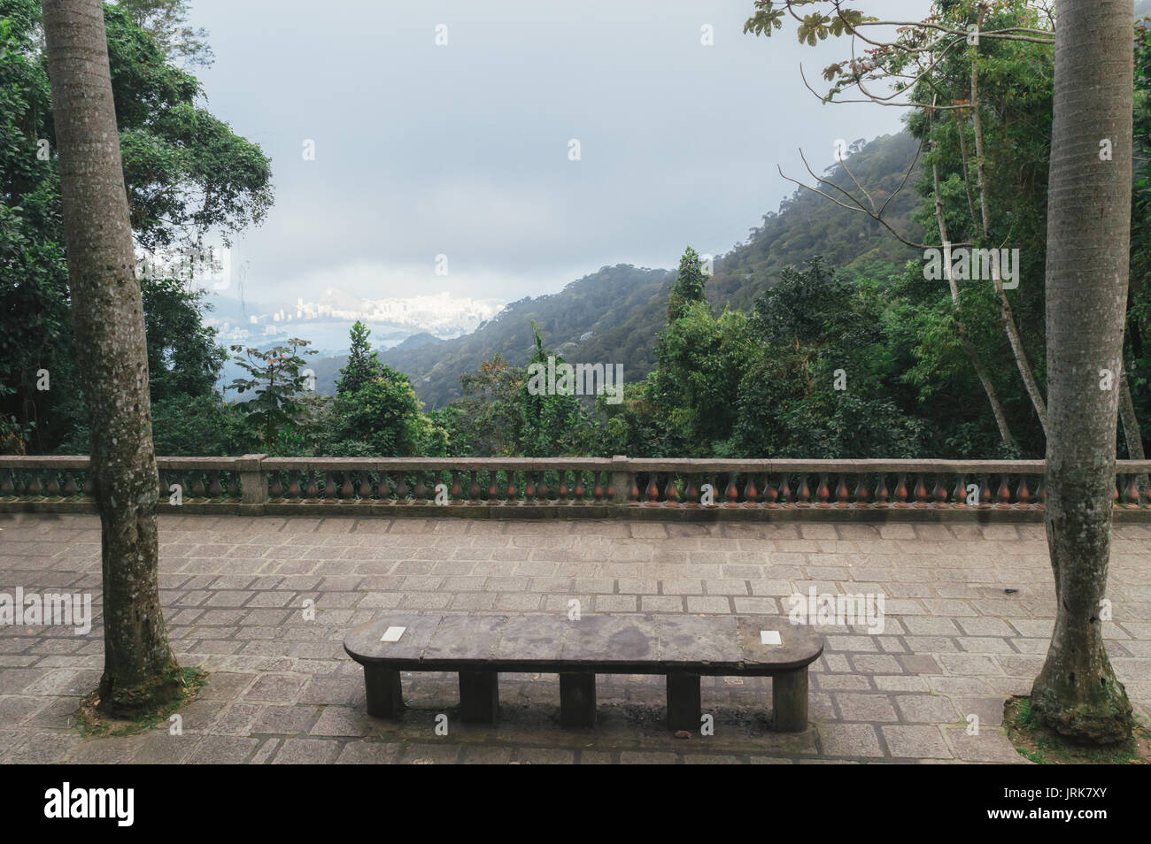 "Mesa do Imperador meaning ""Imperial's table"" is an ancient table overlooking Rio de Janeiro Stock Photo"