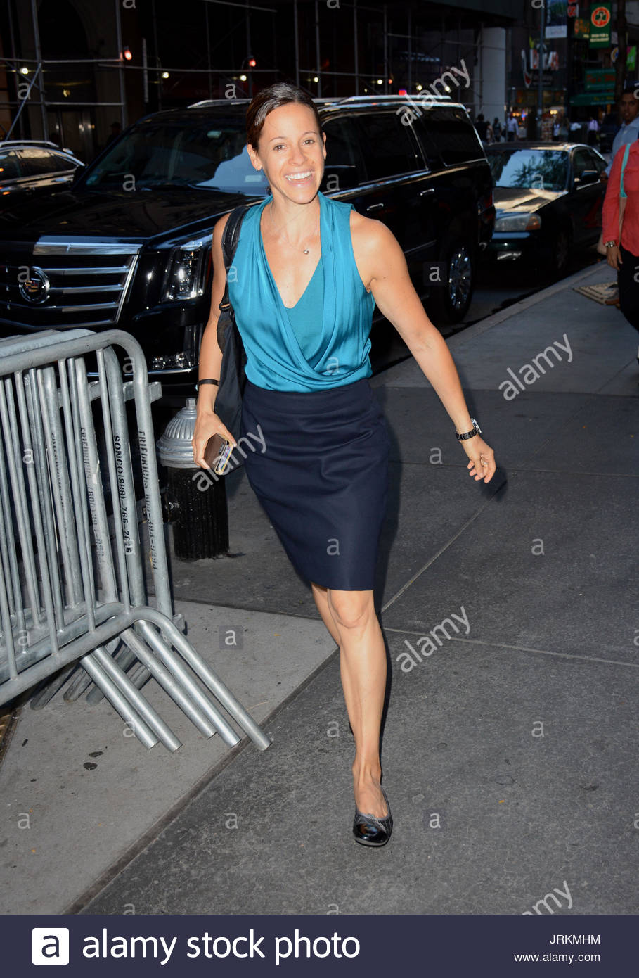 American Journalist Jenna Wolfe Enters The Today Show Studios Nyc