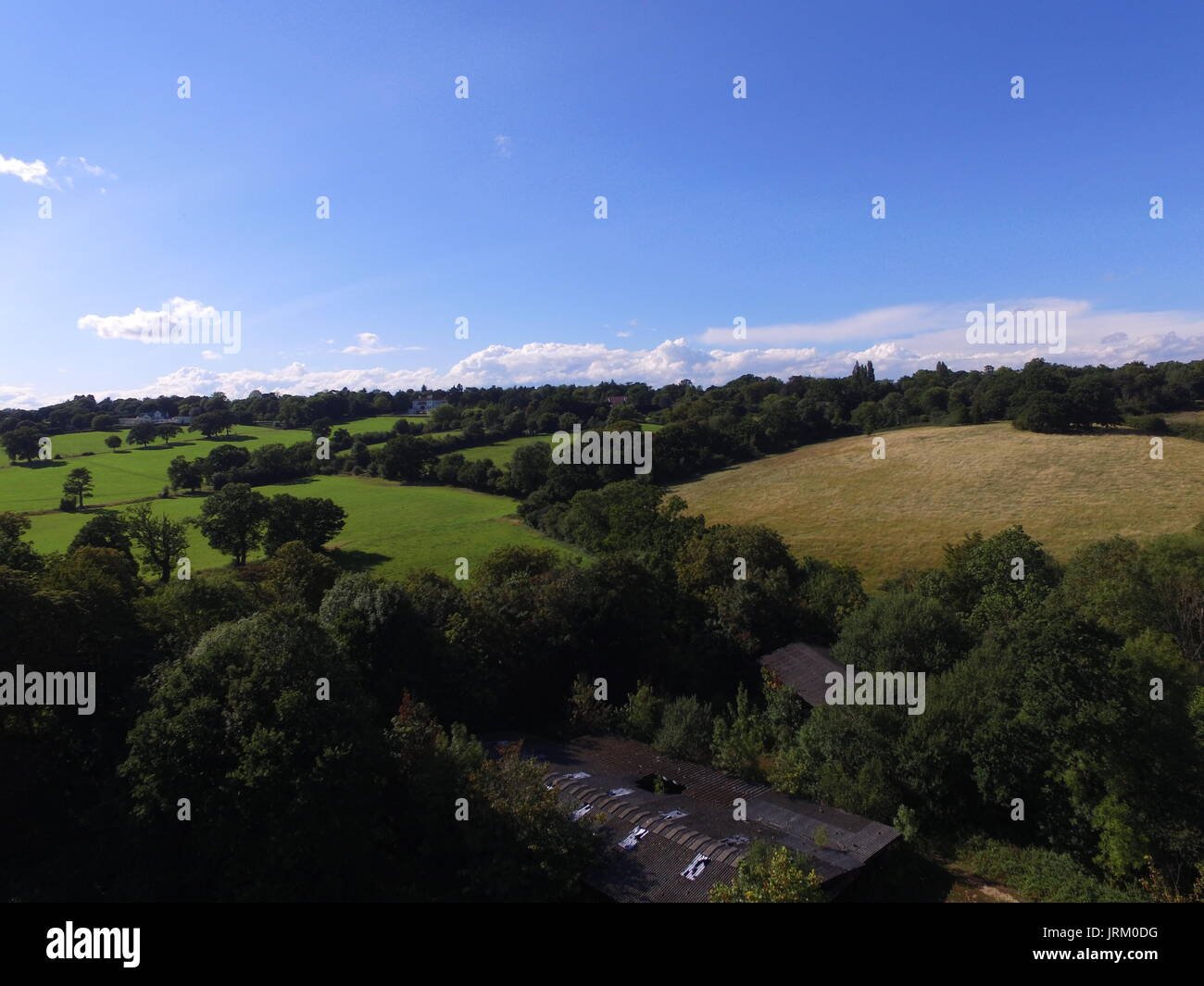 Aerial Photography - British Countryside - Stock Image